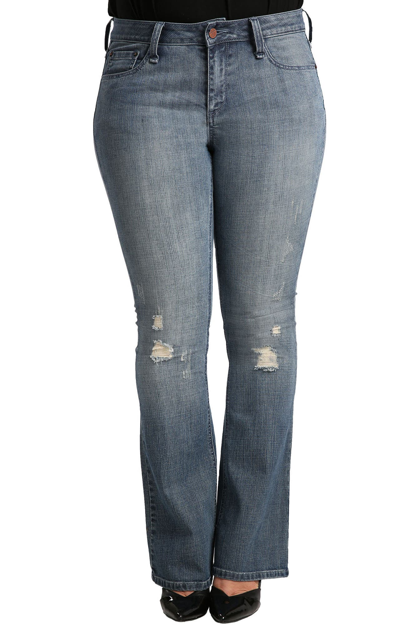STANDARDS & PRACTICES, Clarice Uptown Mid Rise Bootcut Jeans, Main thumbnail 1, color, 1054BOYTOY