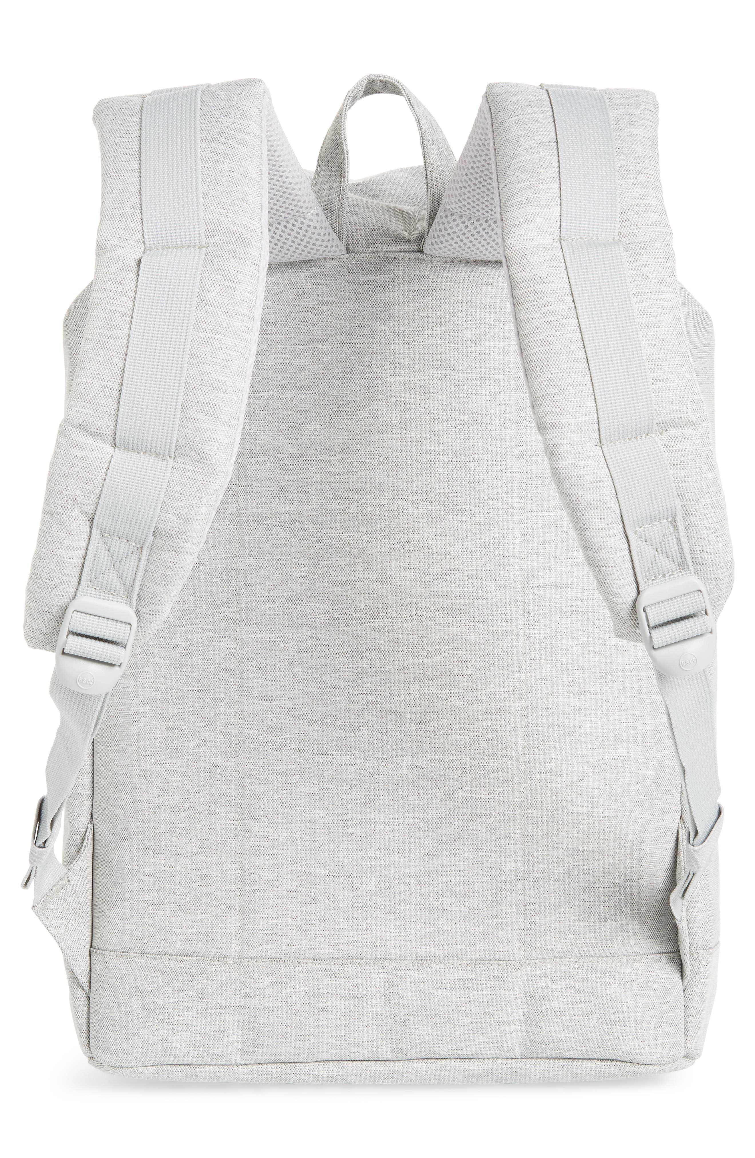 HERSCHEL SUPPLY CO., Retreat Backpack, Alternate thumbnail 4, color, LIGHT GREY CROSSHATCH/ GREY