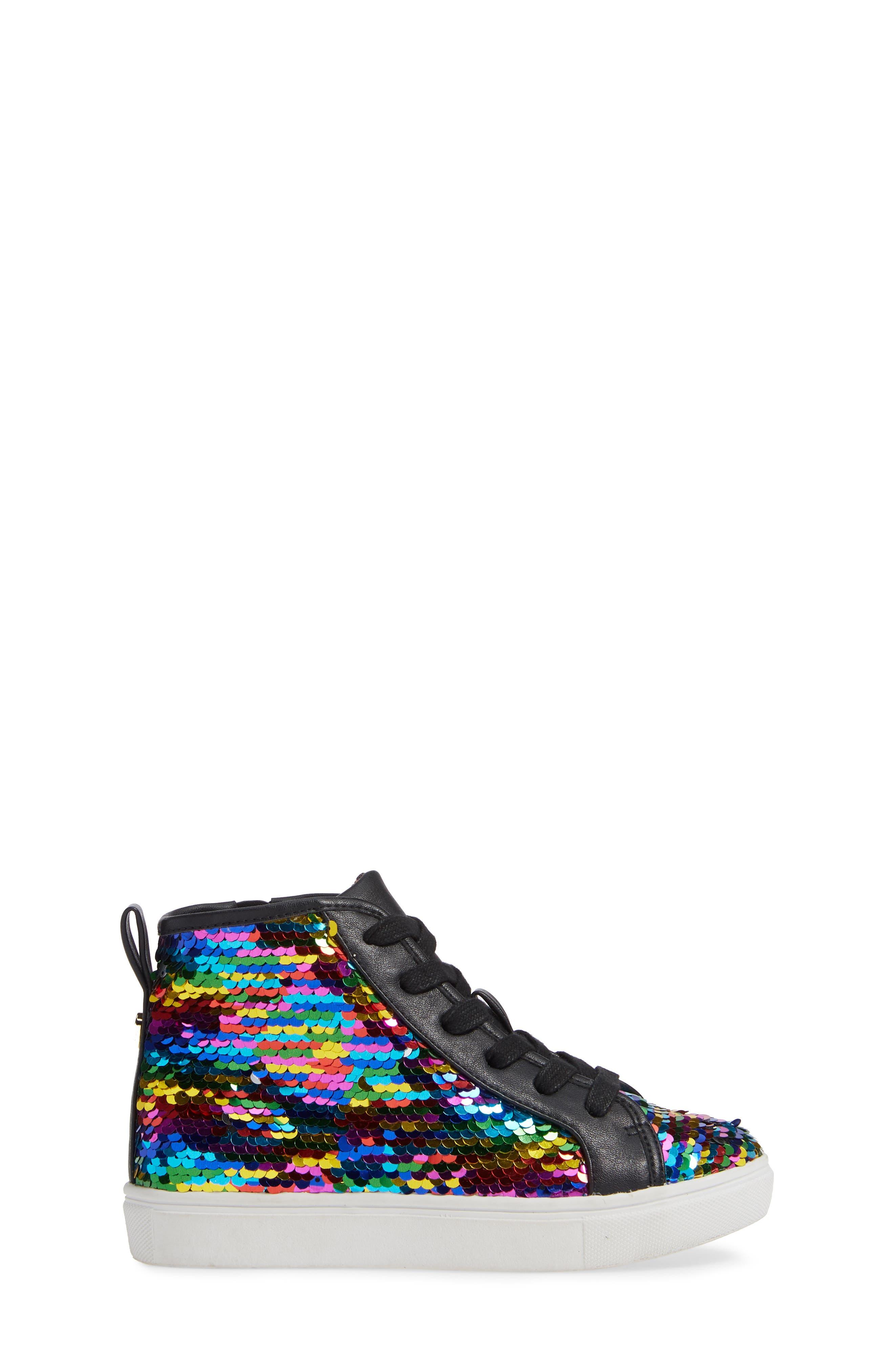 STEVE MADDEN, JSEEKER Sneaker, Alternate thumbnail 3, color, MULTI
