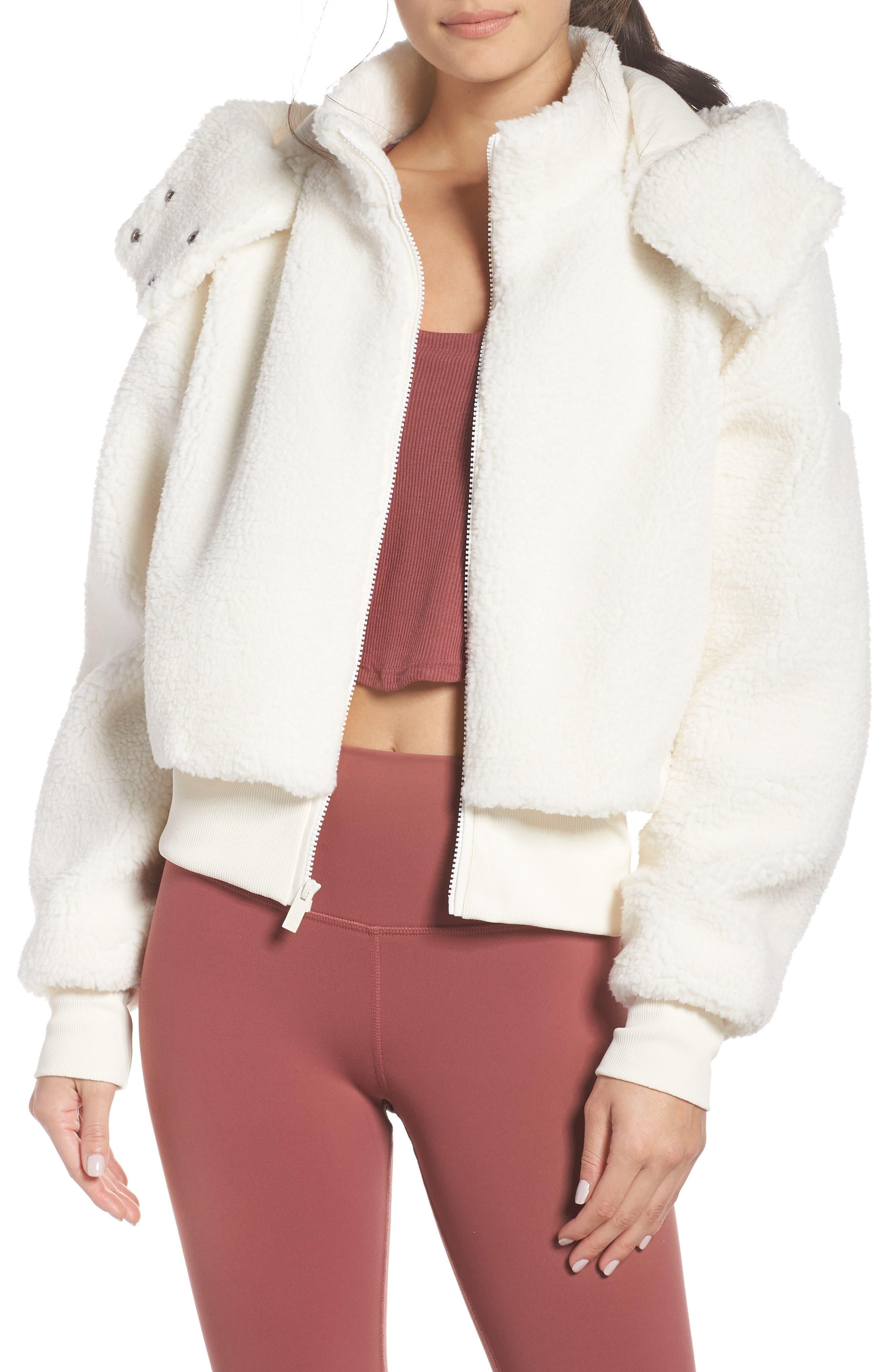 ALO Foxy Faux Fur Jacket, Main, color, PRISTINE