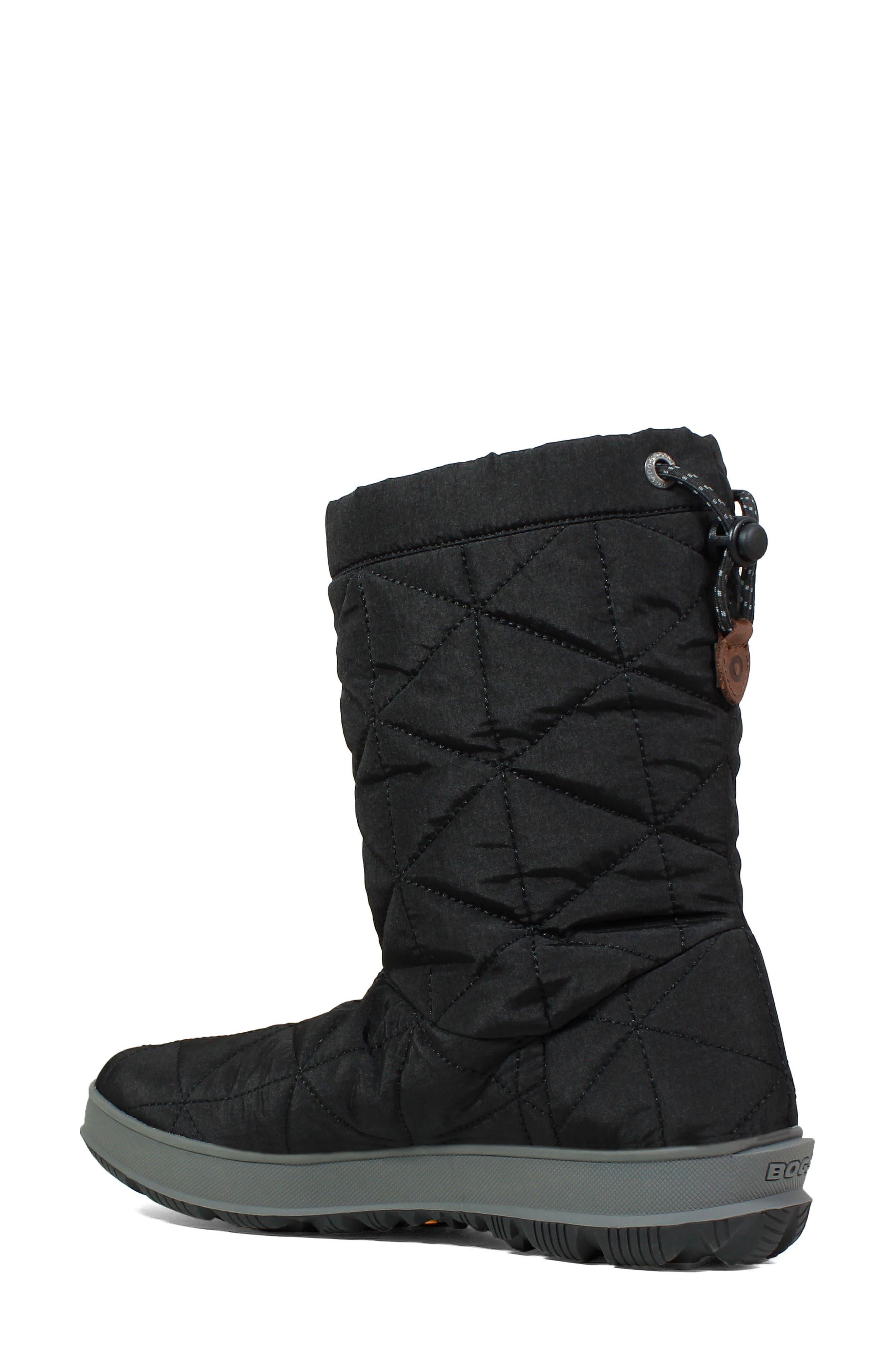 BOGS, Mid Snowday Waterproof Bootie, Alternate thumbnail 2, color, BLACK