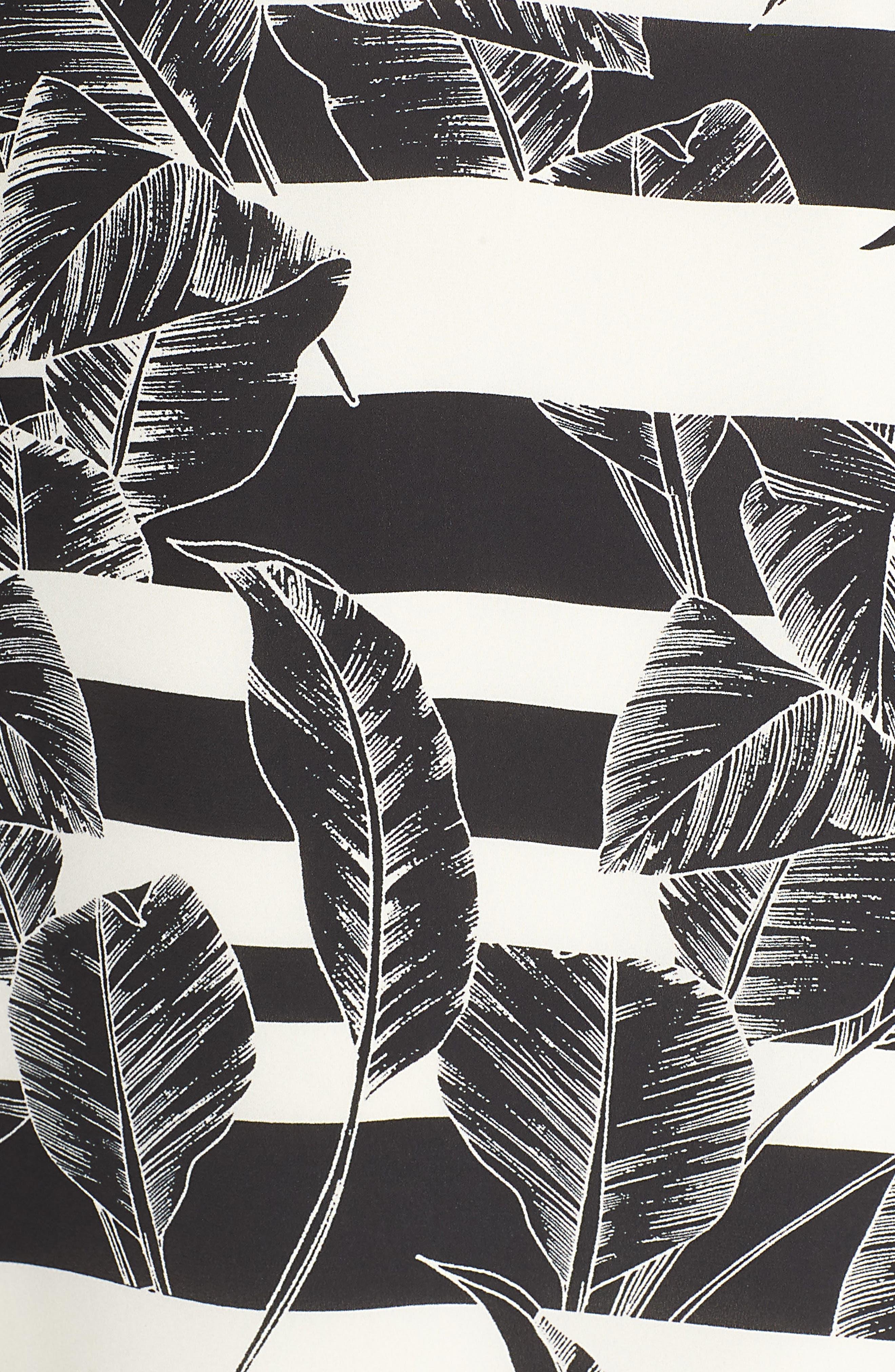 VINCE CAMUTO, Tropical Shadows Midi Slipdress, Alternate thumbnail 5, color, RICH BLACK
