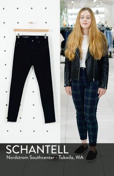 The Farrah High Waist Raw Hem Ankle Skinny Jeans, sales video thumbnail