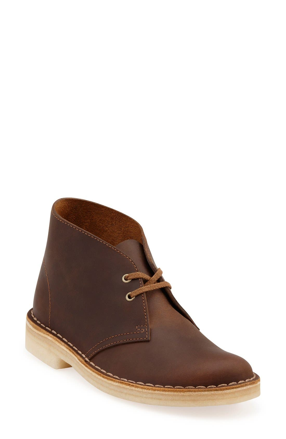 CLARKS<SUP>®</SUP>, Desert ChukkaBoot, Main thumbnail 1, color, BEESWAX LEATHER
