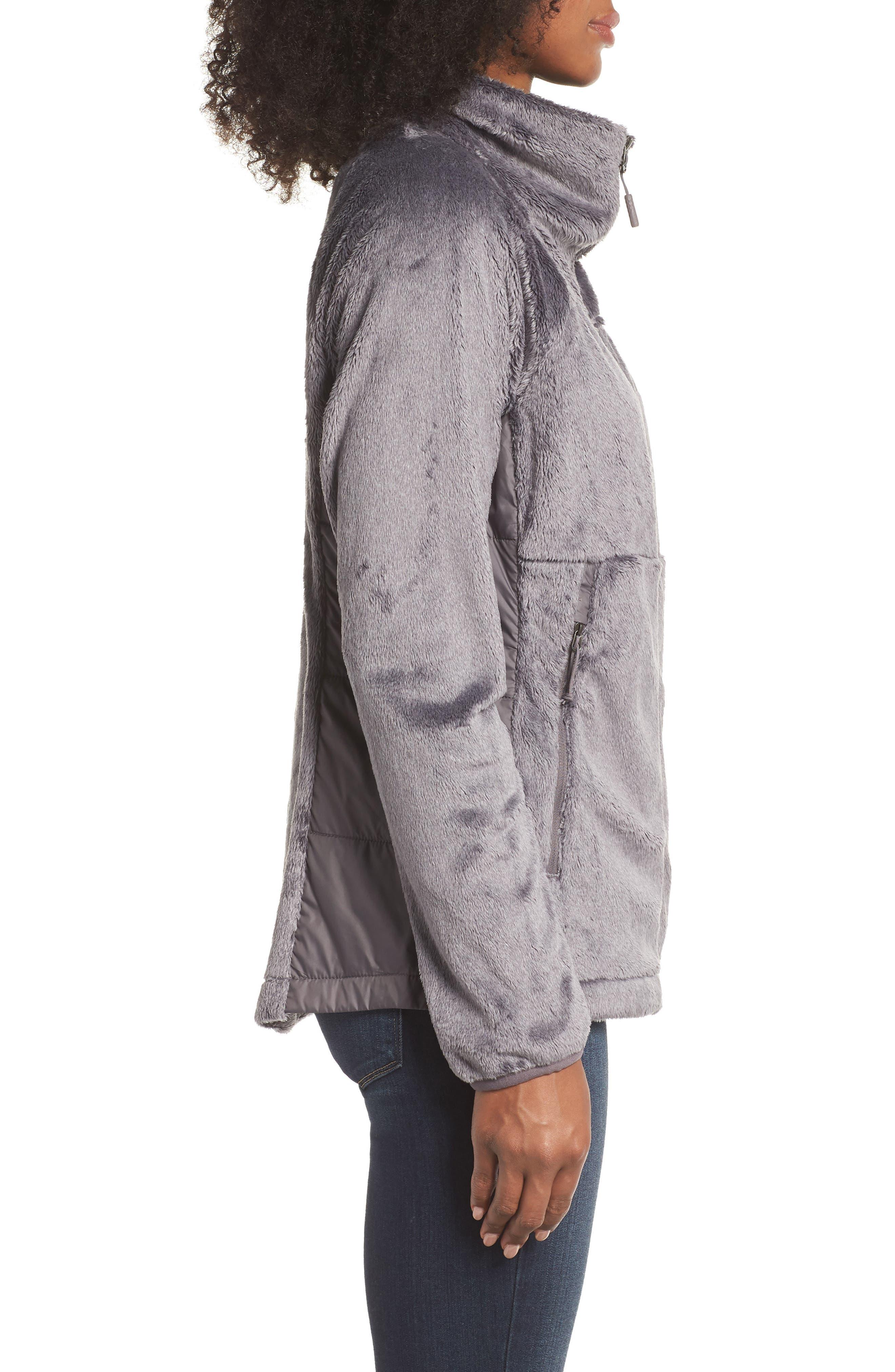 THE NORTH FACE, Osito Sport Hybrid Jacket, Alternate thumbnail 4, color, RABBIT GREY HEATHER