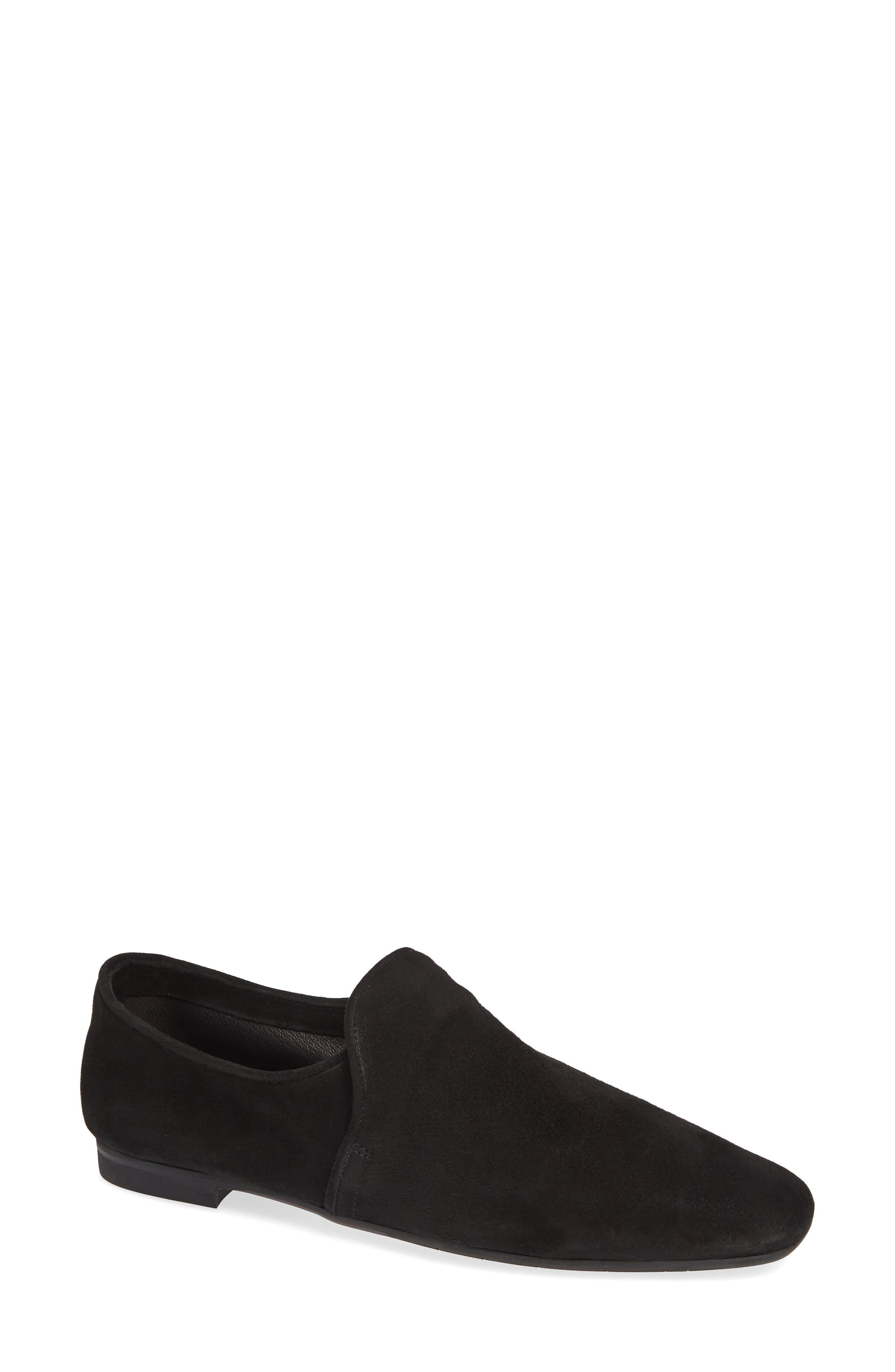 AQUATALIA Revvy Weatherproof Loafer, Main, color, BLACK SUEDE