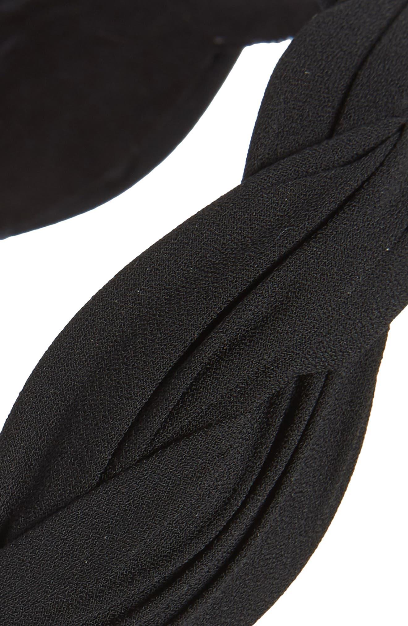 TASHA, Wave Fabric Headband, Alternate thumbnail 2, color, BLACK