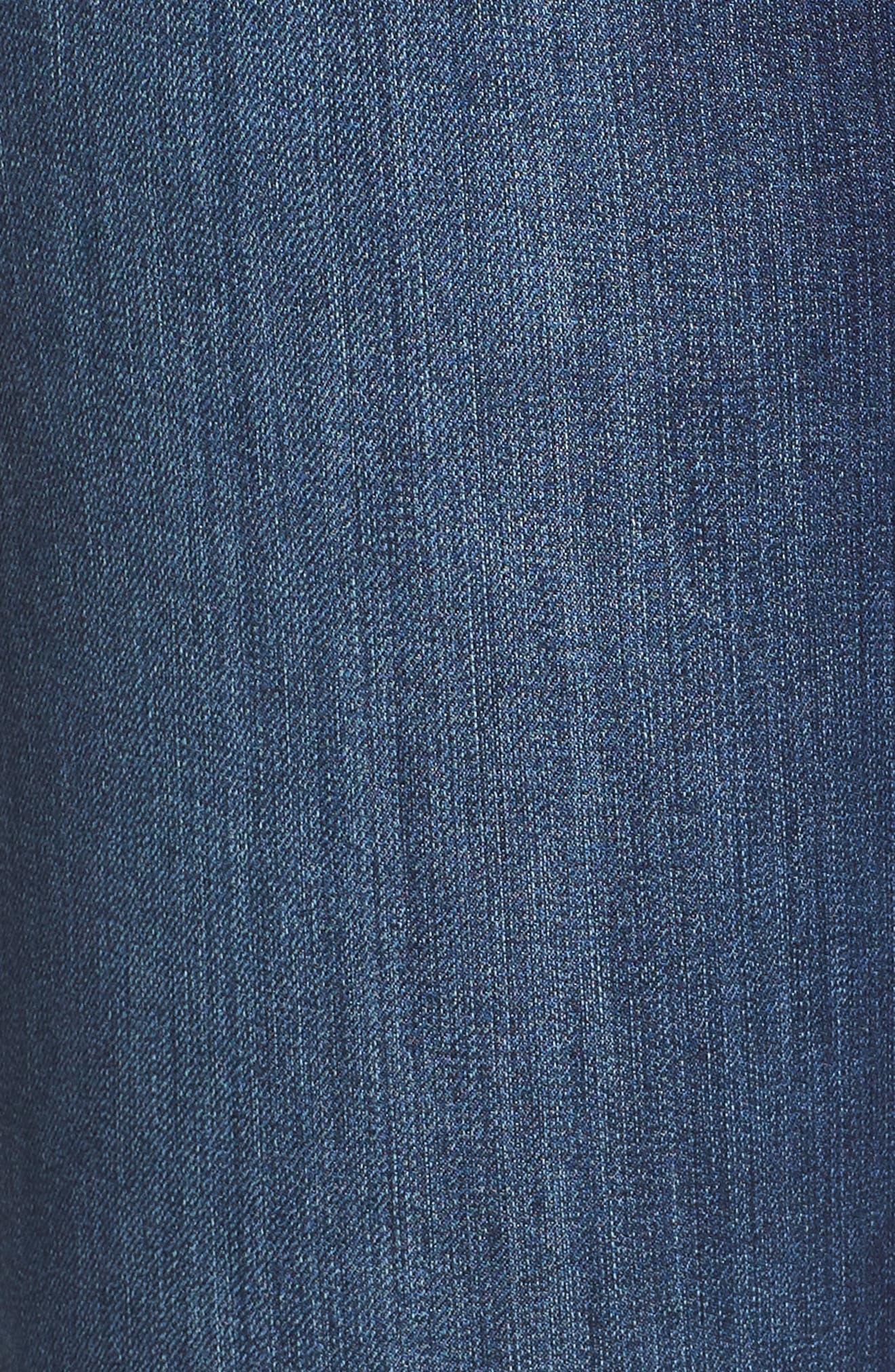SEVEN7, Rocker Flap Pocket Slim Bootcut Jeans, Alternate thumbnail 6, color, CHALLENGER