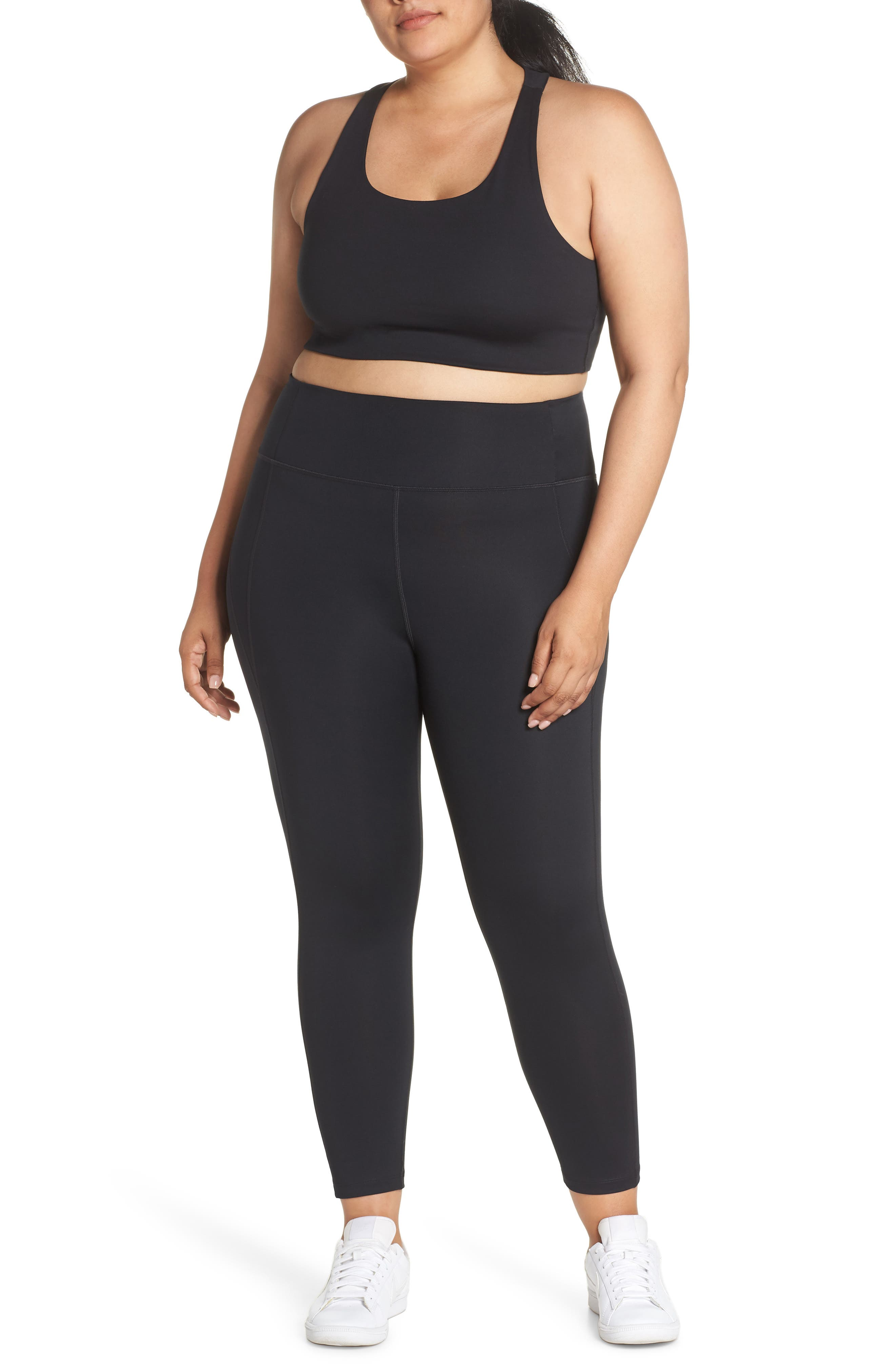 GIRLFRIEND COLLECTIVE, Cropped Paloma Sports Bra, Alternate thumbnail 14, color, 001