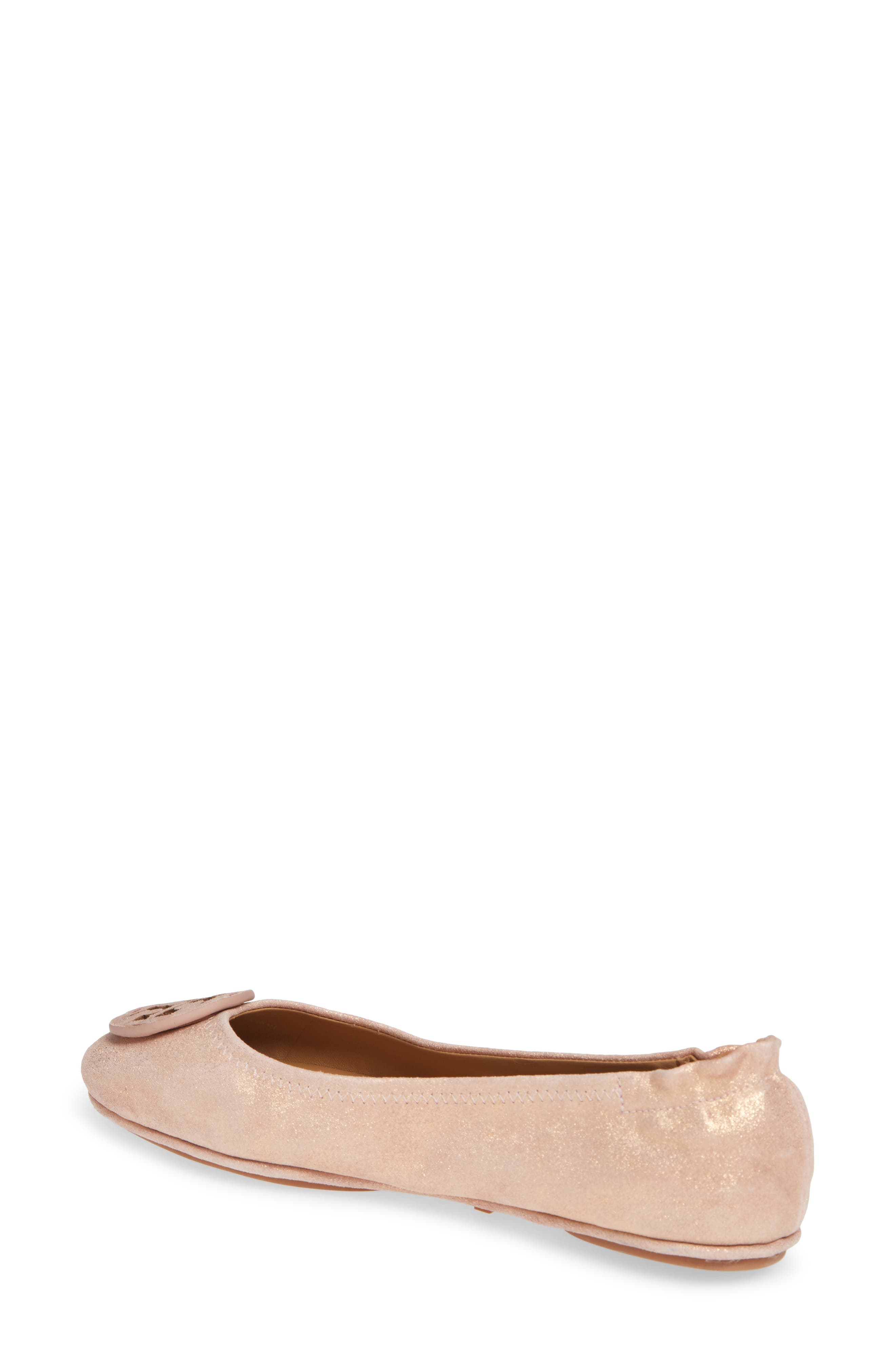 TORY BURCH, Minnie Travel Ballet Flat, Alternate thumbnail 2, color, 654