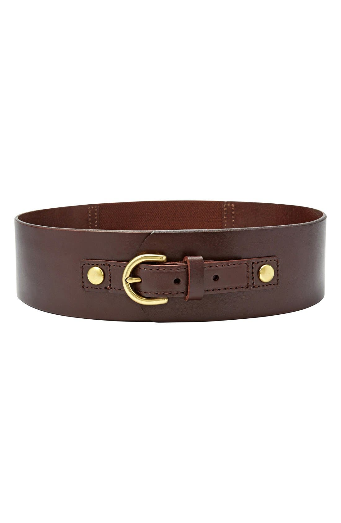 FOSSIL, Wide Leather Belt, Main thumbnail 1, color, 200
