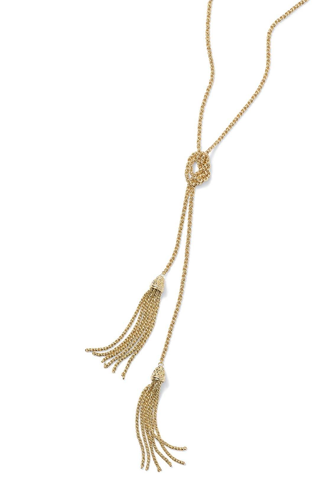 KENDRA SCOTT, 'Jake' Lariat Pendant Necklace, Alternate thumbnail 5, color, 001