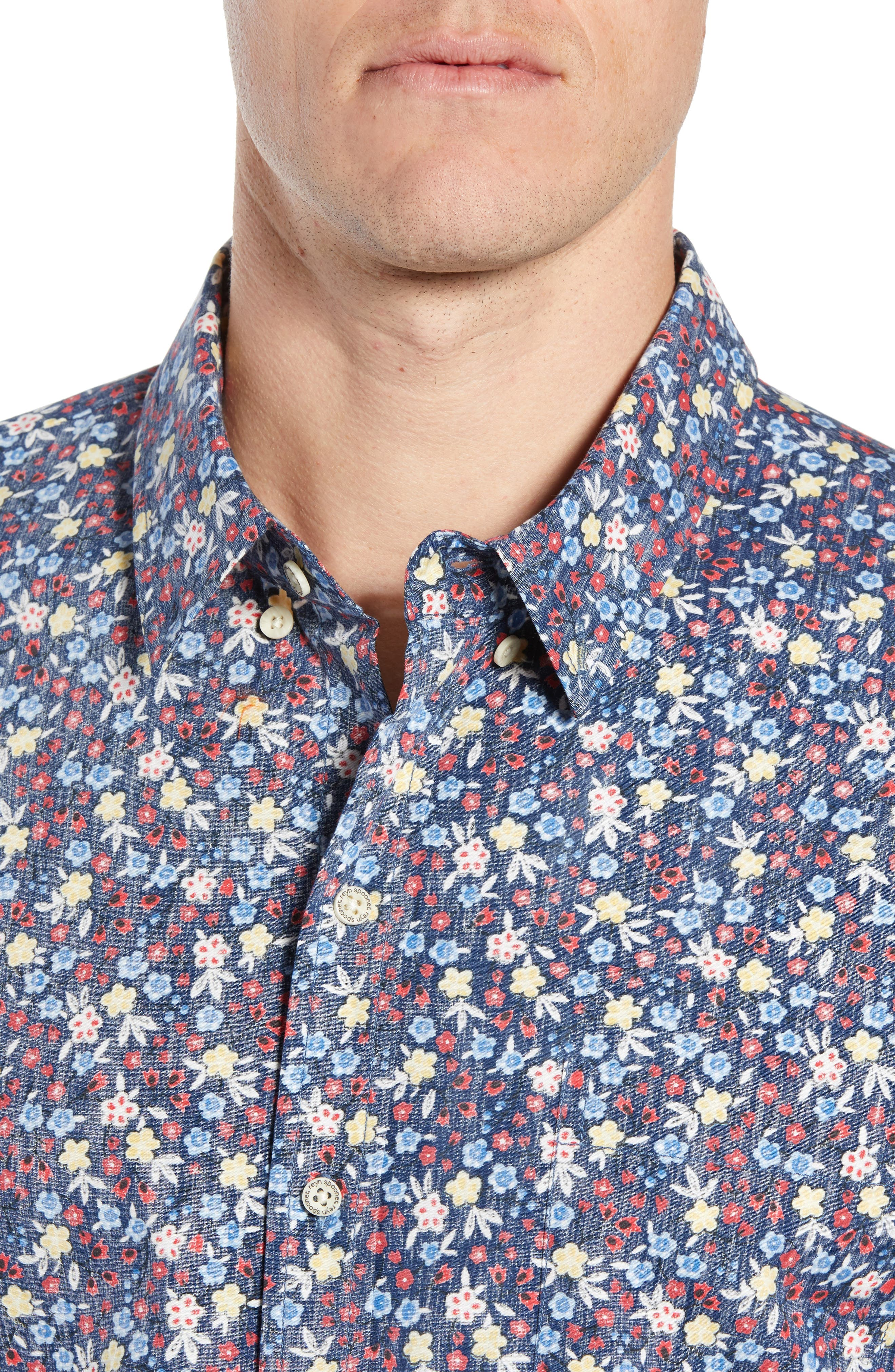 REYN SPOONER, Retro Tailored Fit Sport Shirt, Alternate thumbnail 2, color, MEDIEVAL BLUE