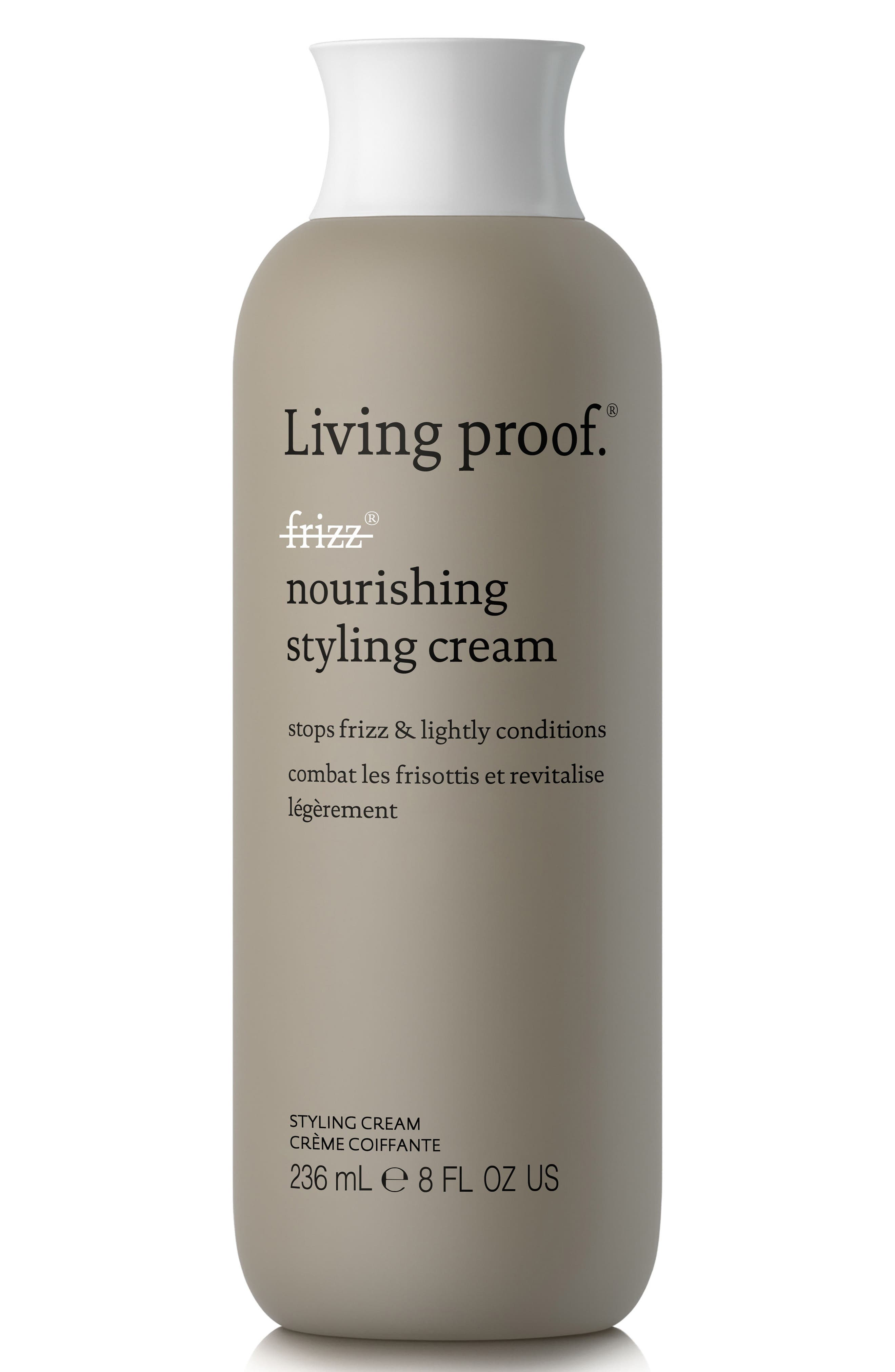 LIVING PROOF<SUP>®</SUP>, No Frizz Nourishing Styling Cream, Main thumbnail 1, color, NO COLOR