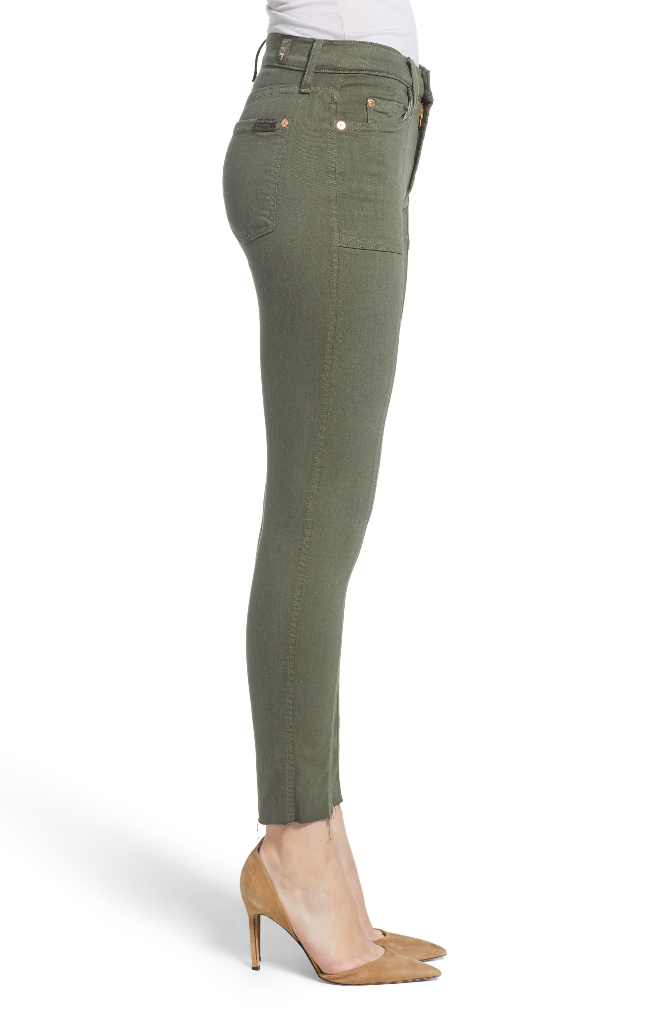 7 FOR ALL MANKIND<SUP>®</SUP>, Roxanne Paneled Ankle Slim Jeans, Alternate thumbnail 4, color, 301