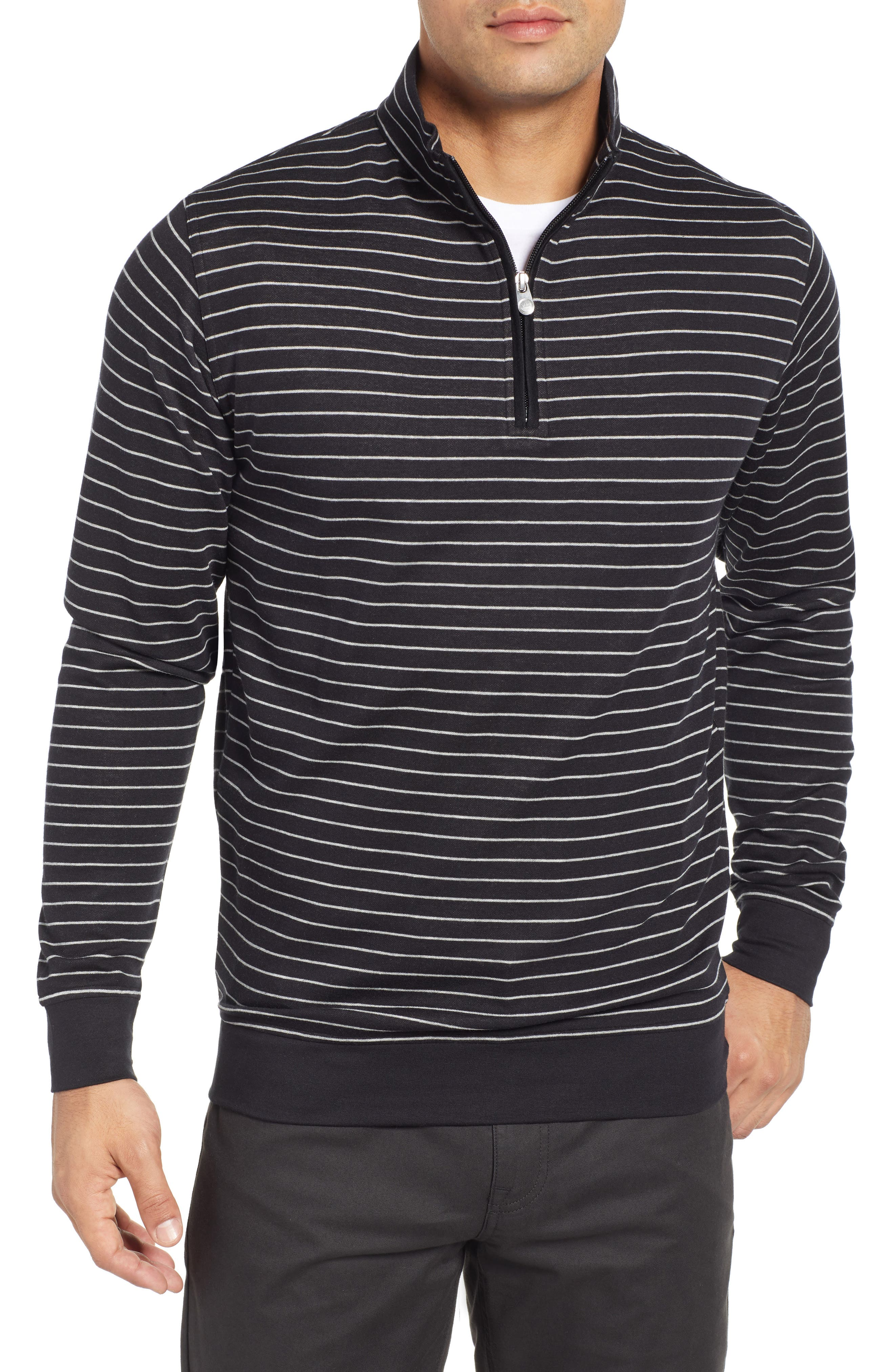 PETER MILLAR, Classic Fit Pullover, Main thumbnail 1, color, BLACK