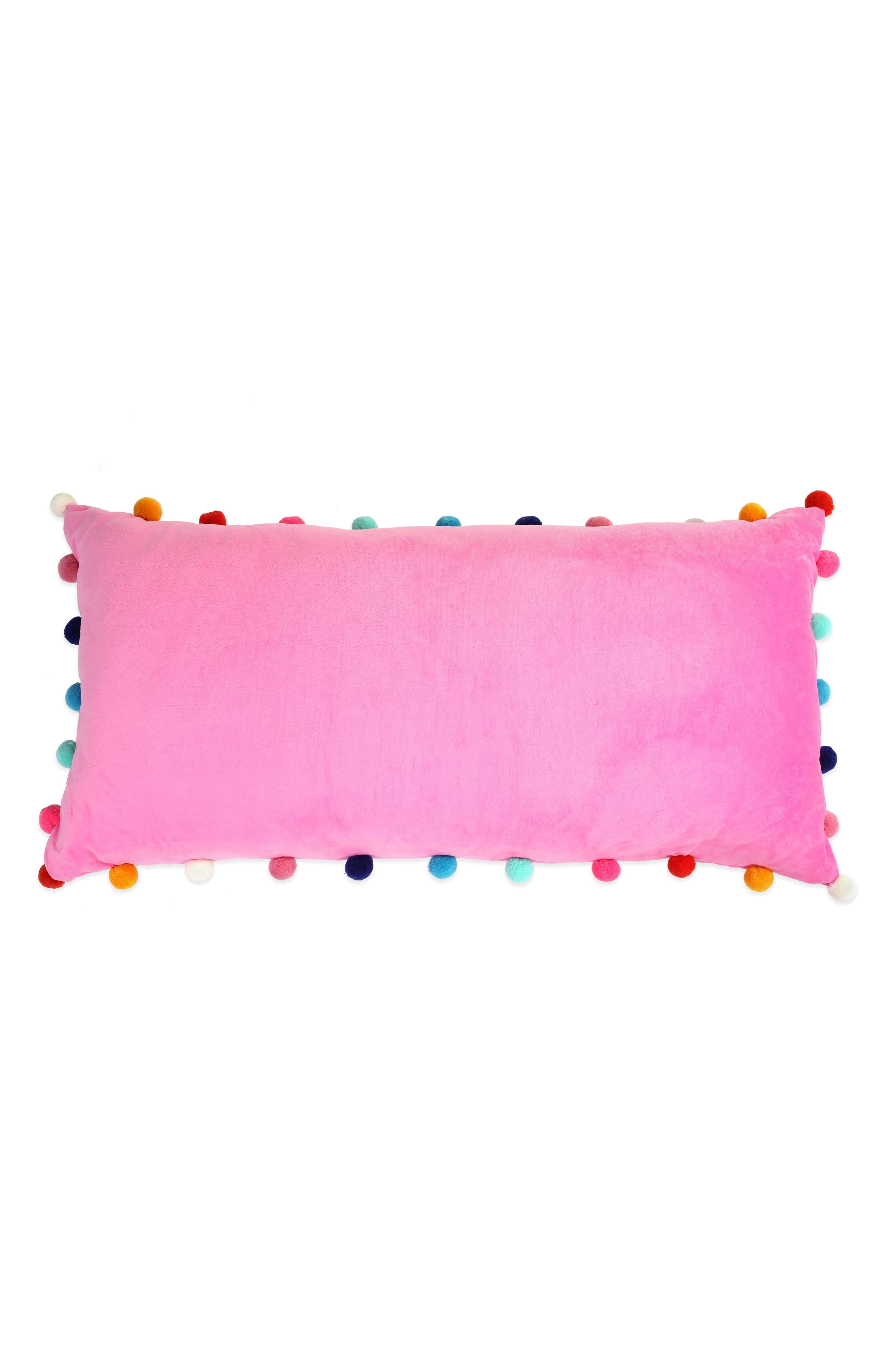 CAPELLI NEW YORK, Pompom Plush Pillow, Main thumbnail 1, color, 659