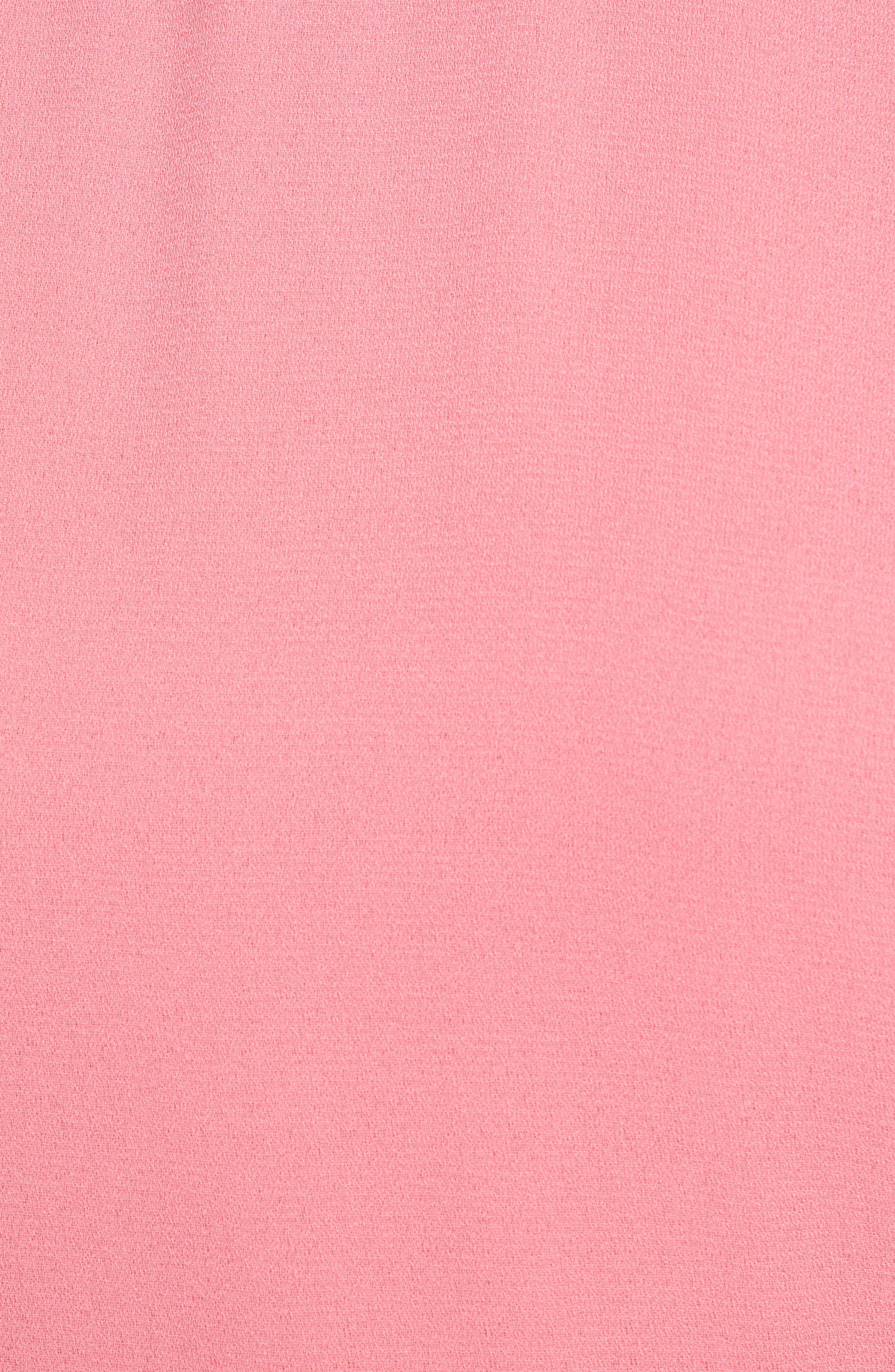 LEITH, Chic Midi Dress, Alternate thumbnail 6, color, PINK LEMONADE