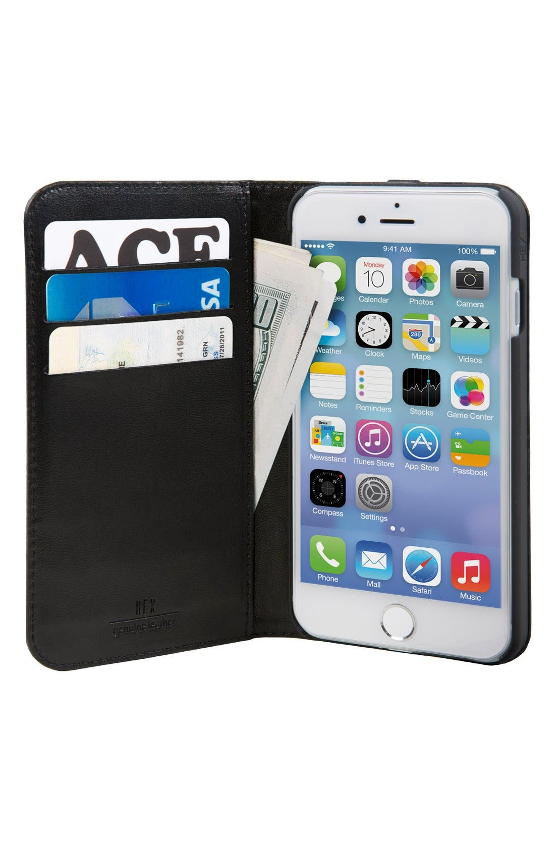 HEX, Icon iPhone 7/8 Plus Case & Wallet, Alternate thumbnail 3, color, 001