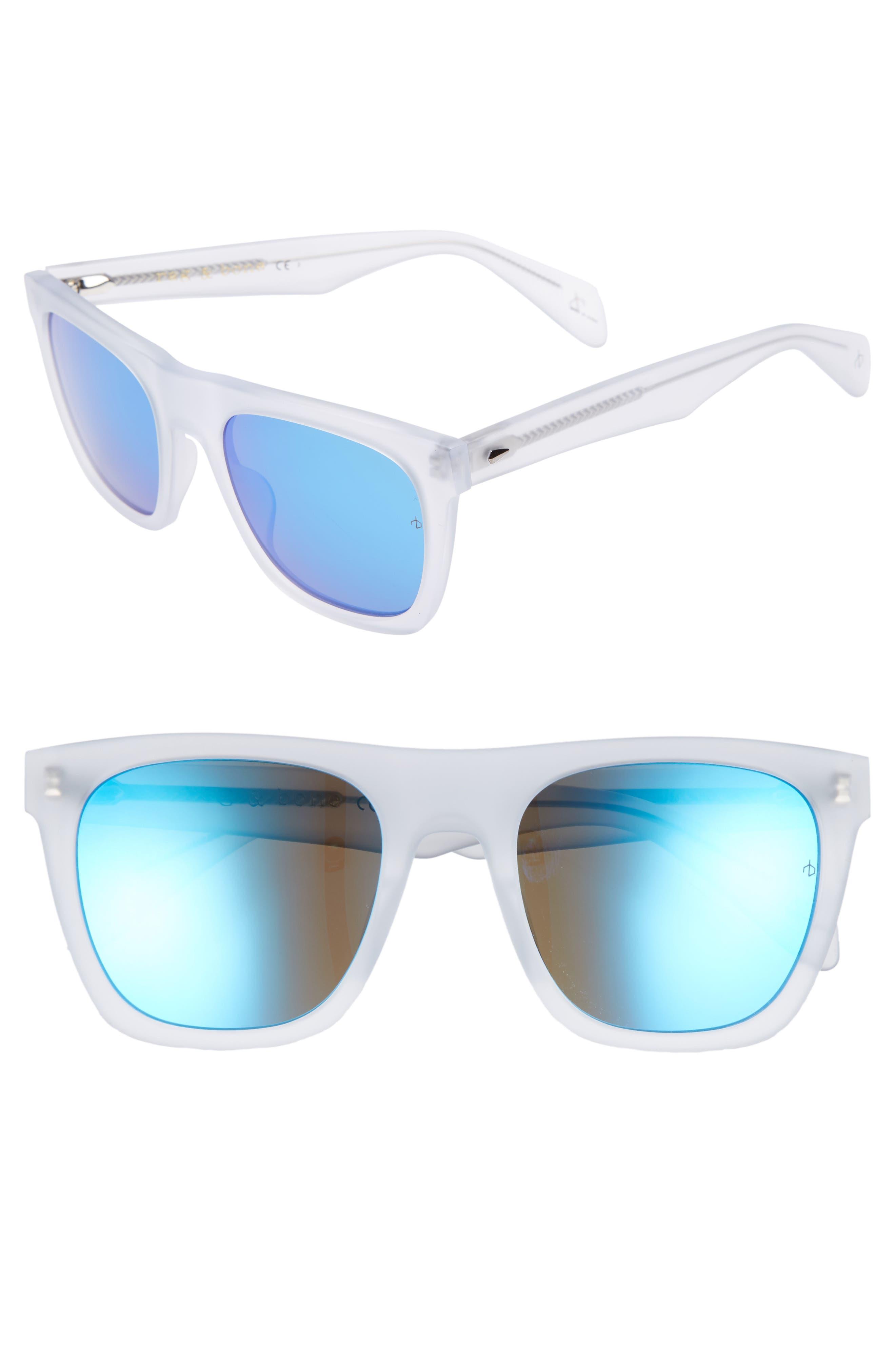 RAG & BONE, 54mm Polarized Sunglasses, Main thumbnail 1, color, MATTE CRYSTAL