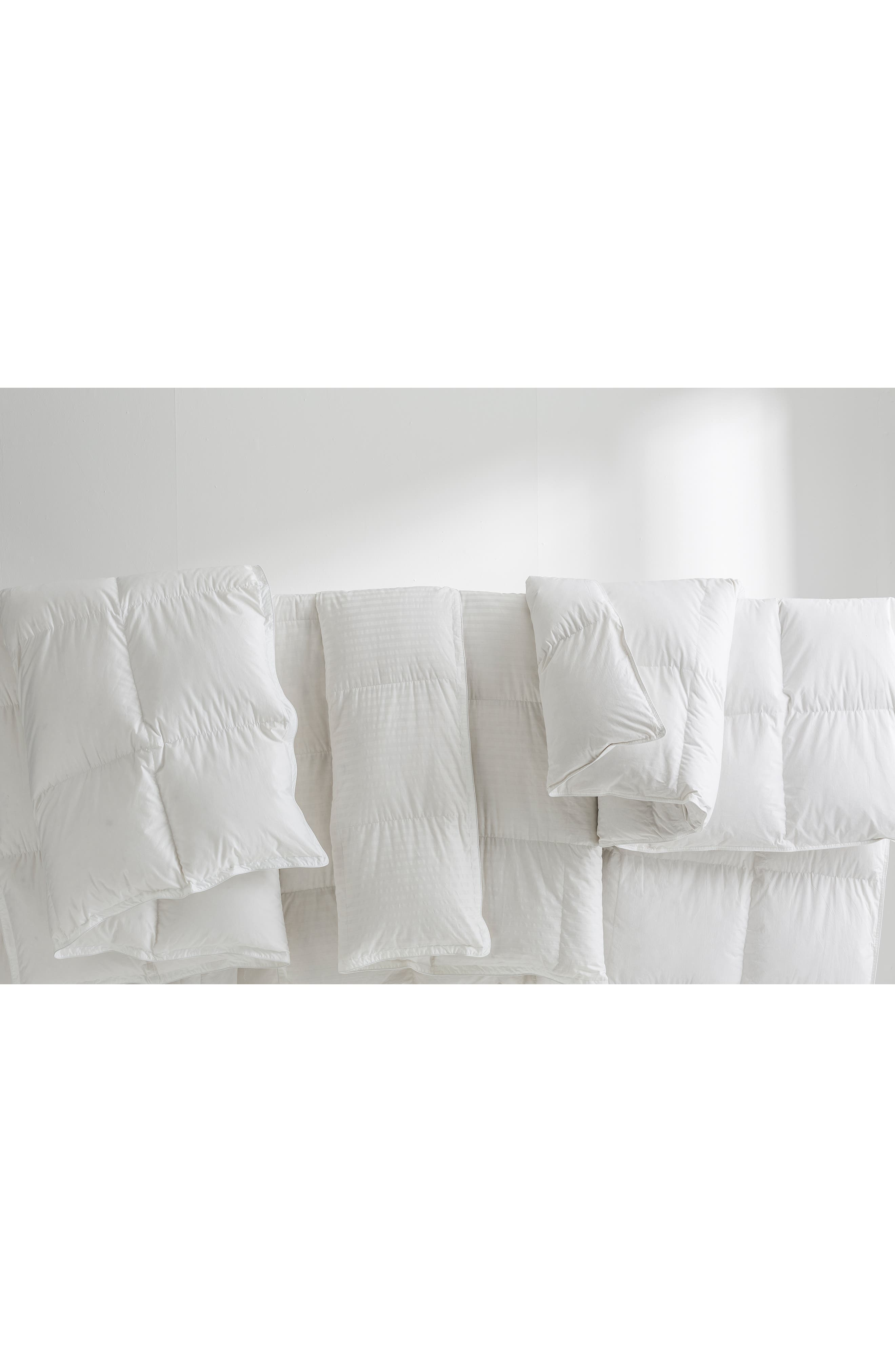 THE WHITE COMPANY, Light Warmth Hungarian Goose Down Comforter, Alternate thumbnail 3, color, IVORY