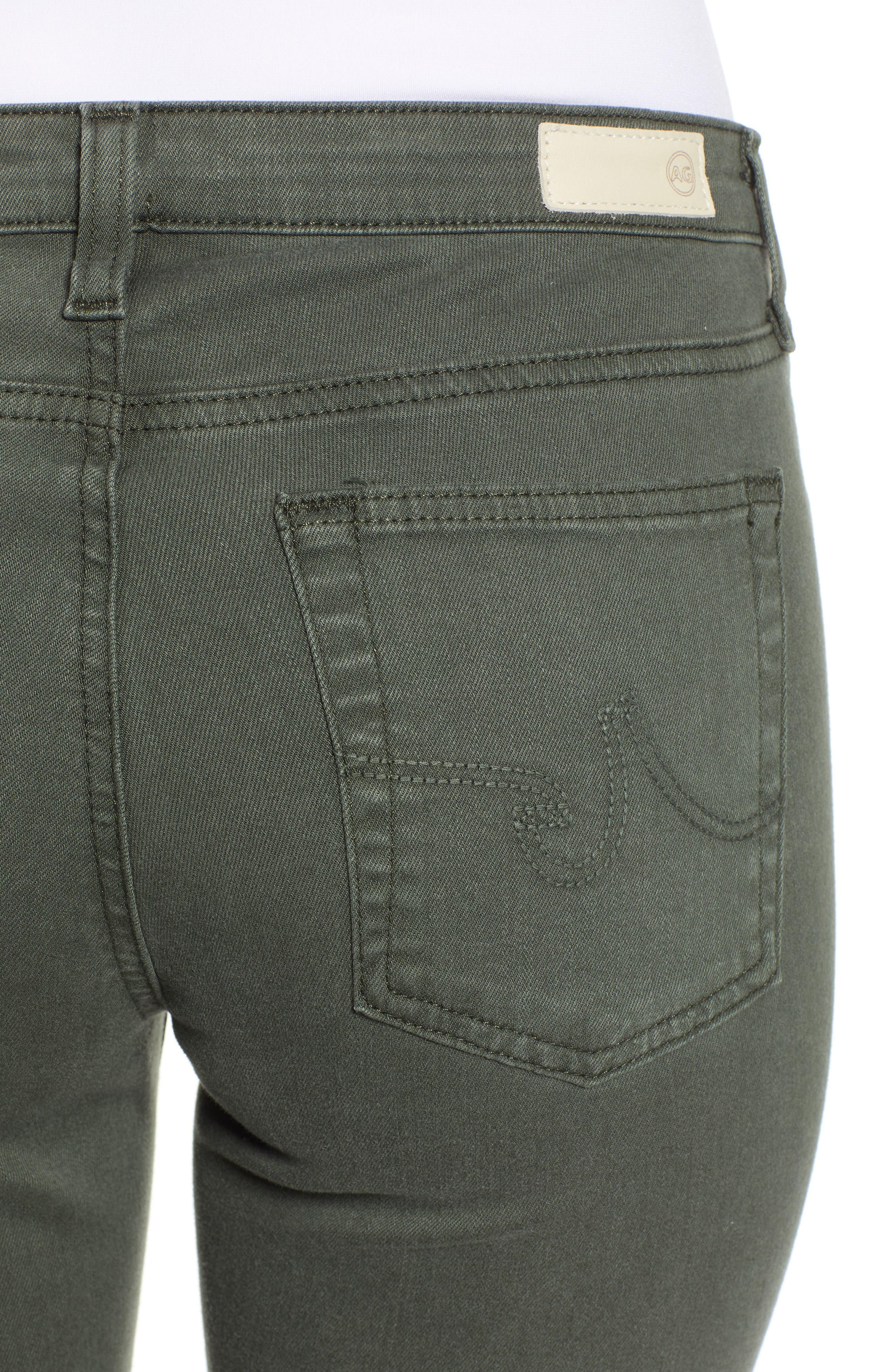 AG, The Prima Ankle Cigarette Jeans, Alternate thumbnail 5, color, 01Y SULFUR ASH GREEN