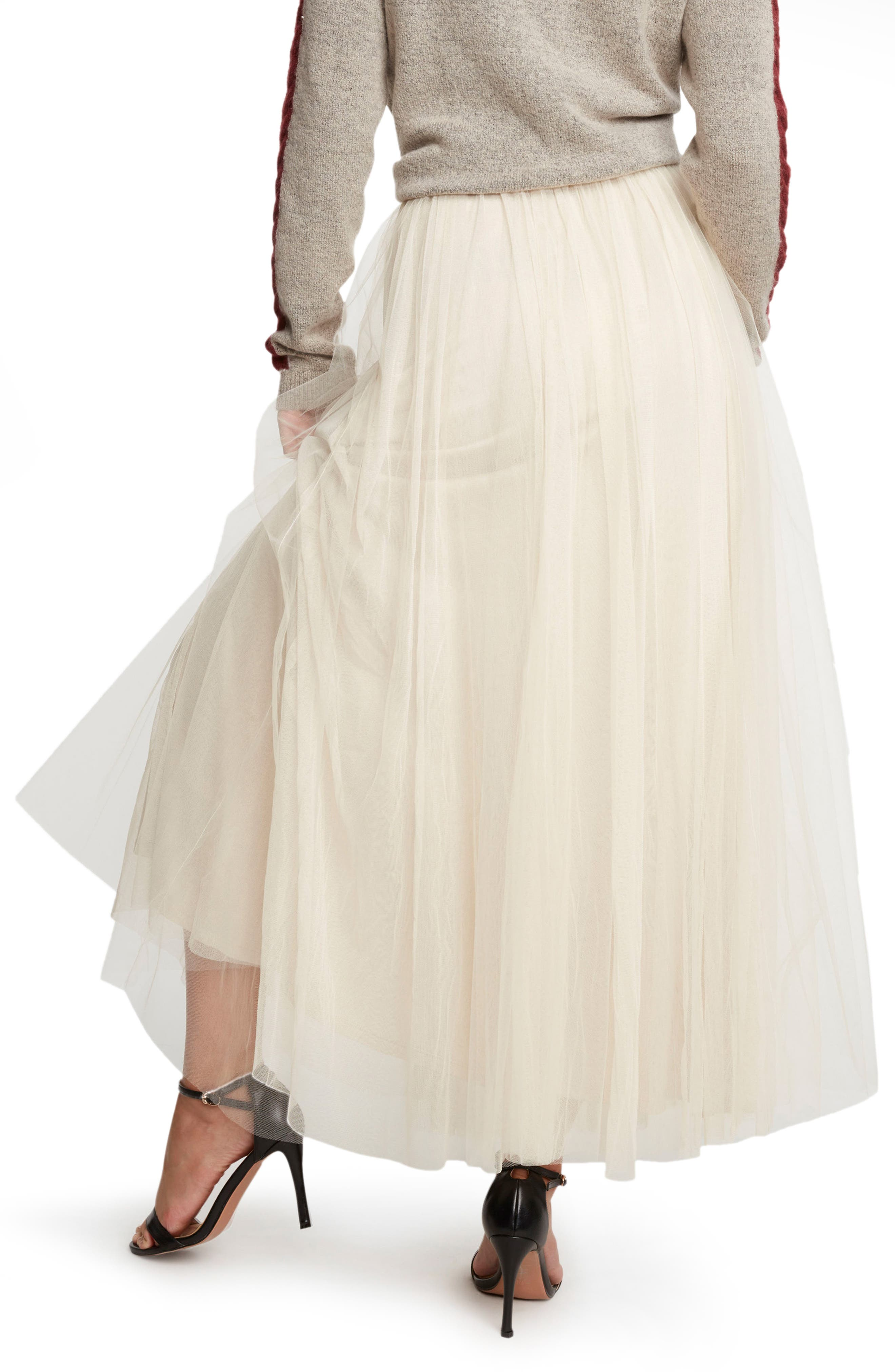 WILLOW & CLAY, Tulle Midi Skirt, Alternate thumbnail 2, color, 901