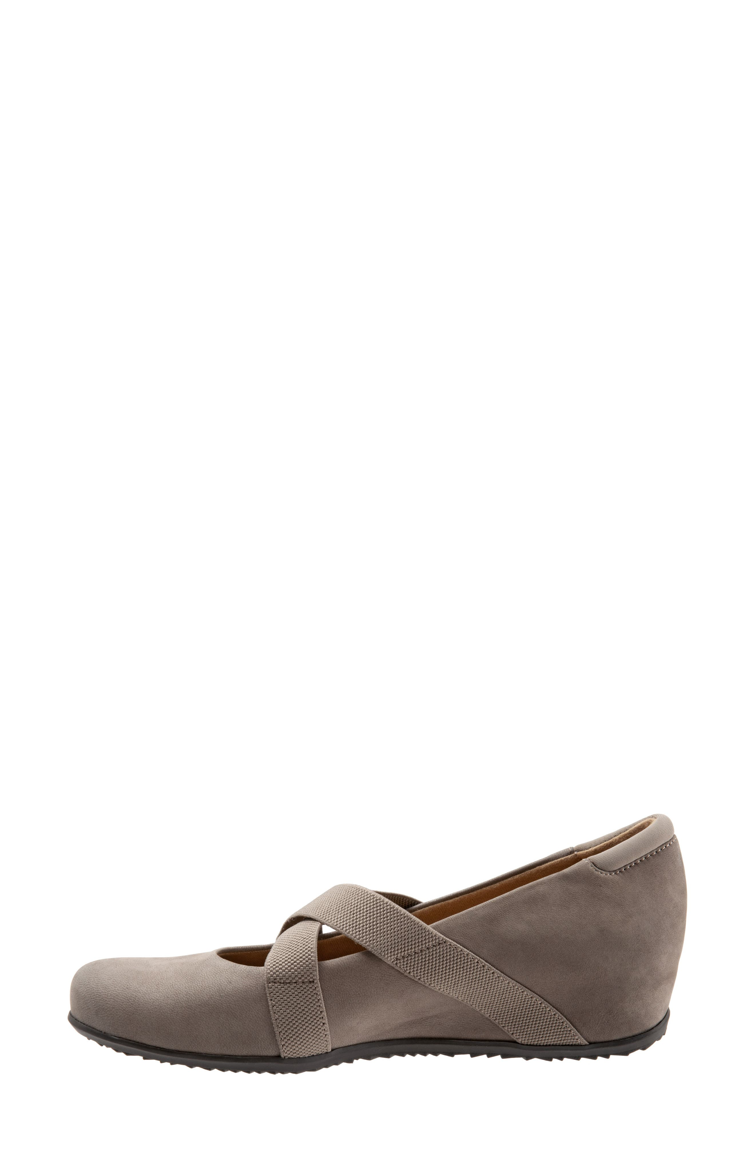 SOFTWALK<SUP>®</SUP>, Waverly Mary Jane Wedge, Alternate thumbnail 9, color, TAUPE LEATHER