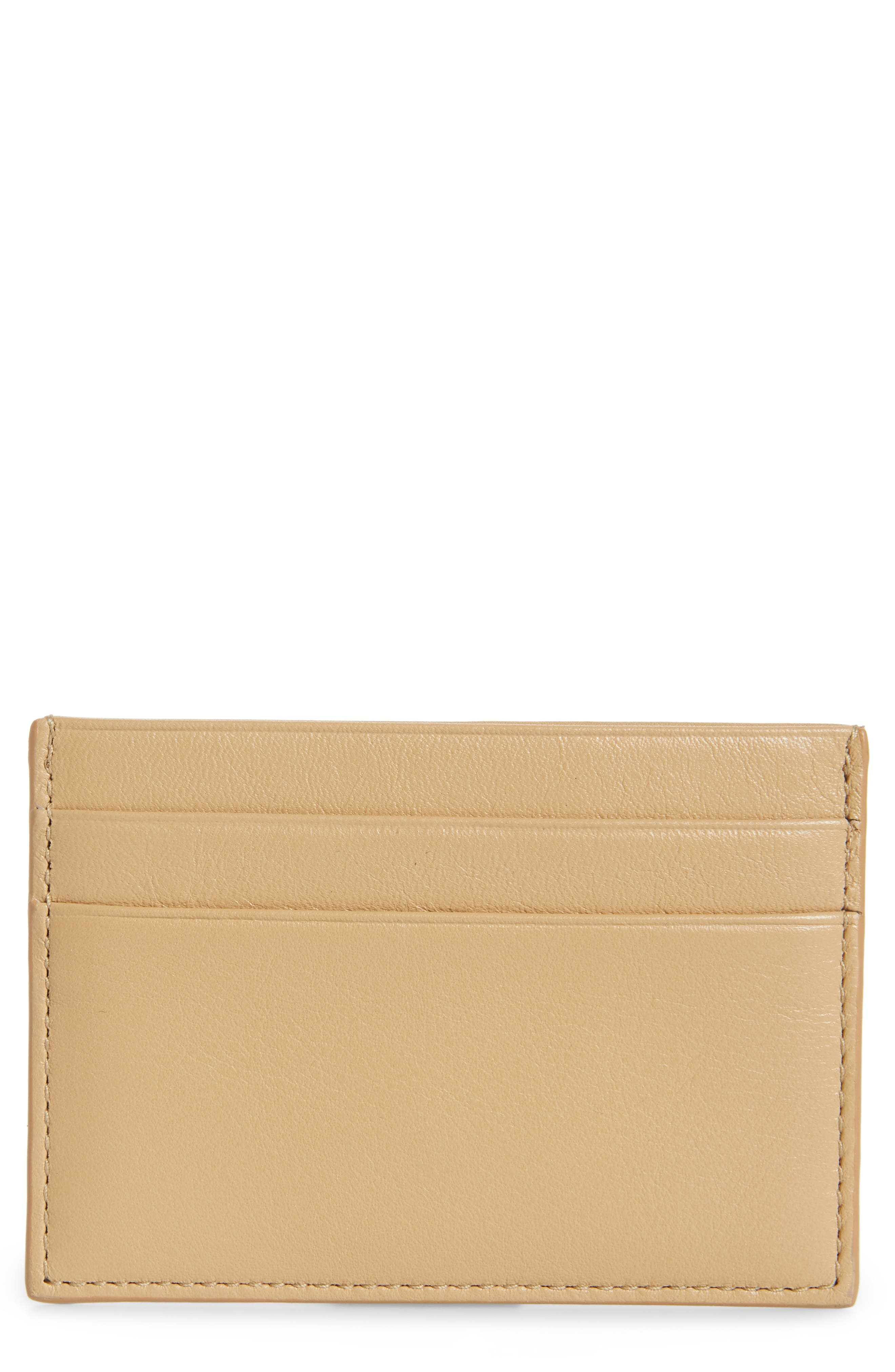 COMMON PROJECTS, Nappa Leather Card Case, Main thumbnail 1, color, 250