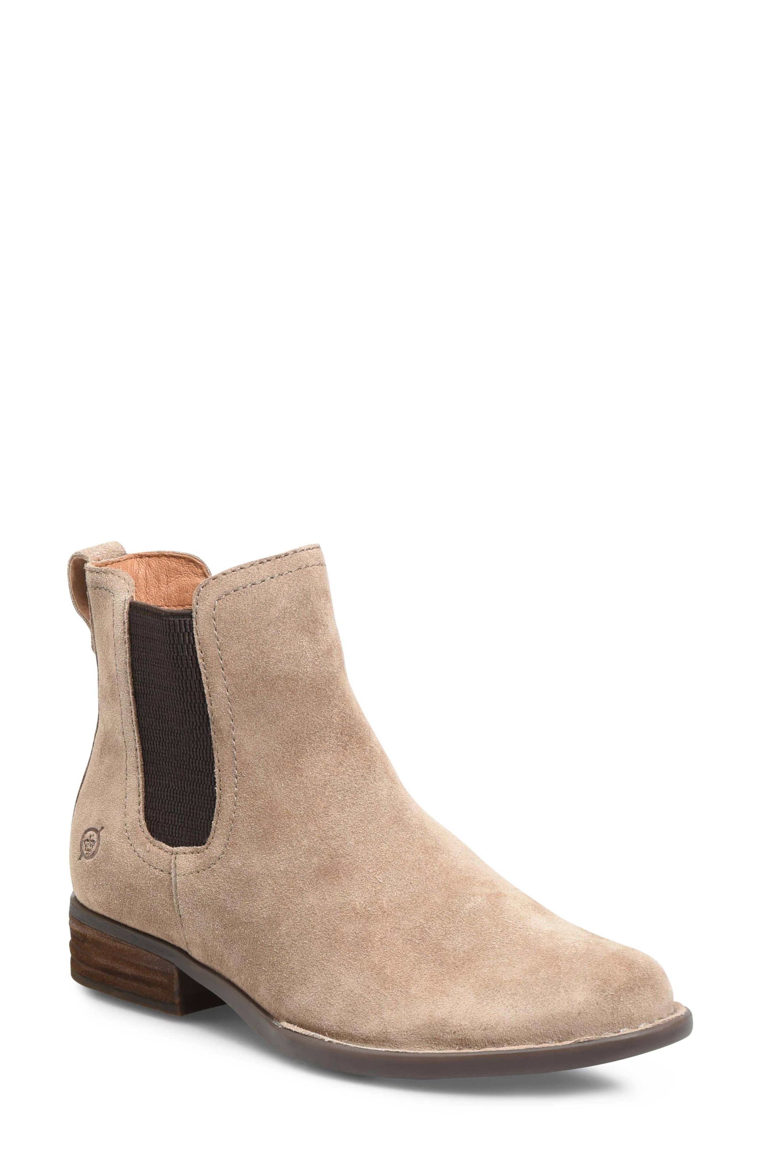 BØRN, Casco Chelsea Boot, Main thumbnail 1, color, DARK TAUPE SUEDE