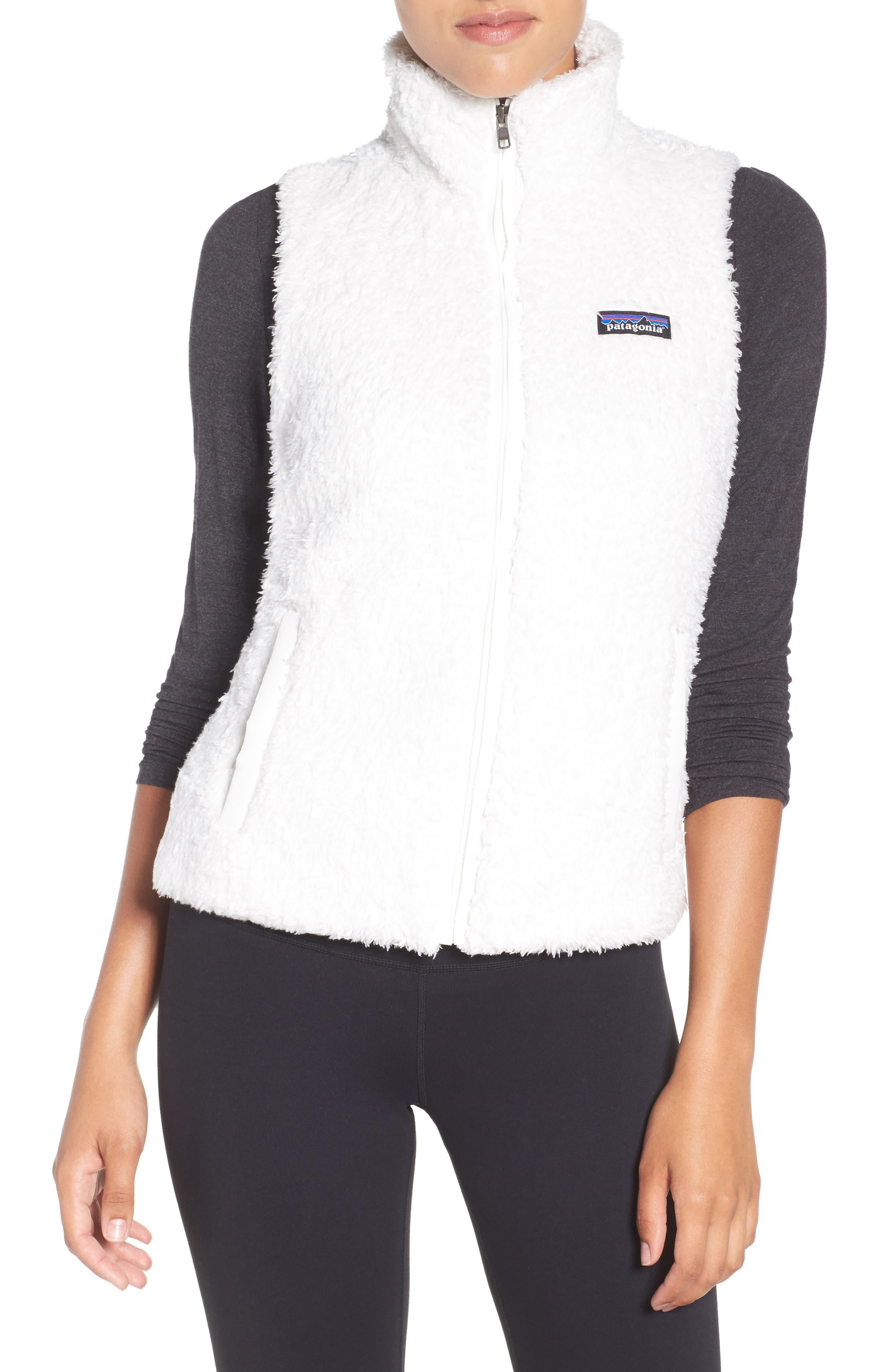 PATAGONIA, Los Gatos Fleece Vest, Main thumbnail 1, color, BIRCH WHITE