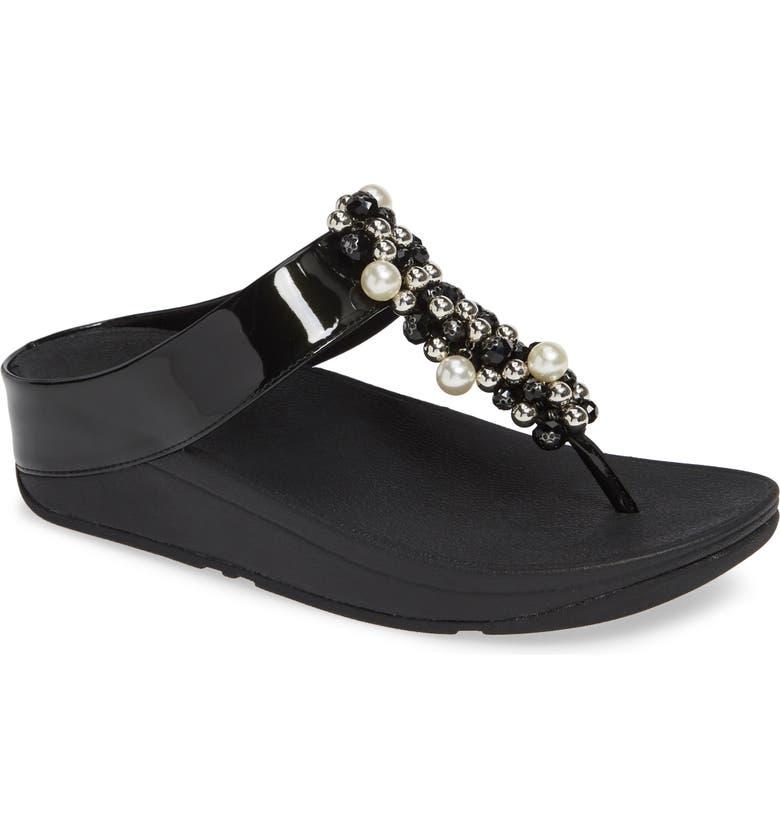 22656feda FitFlop Deco Embellished Flip Flop (Women)