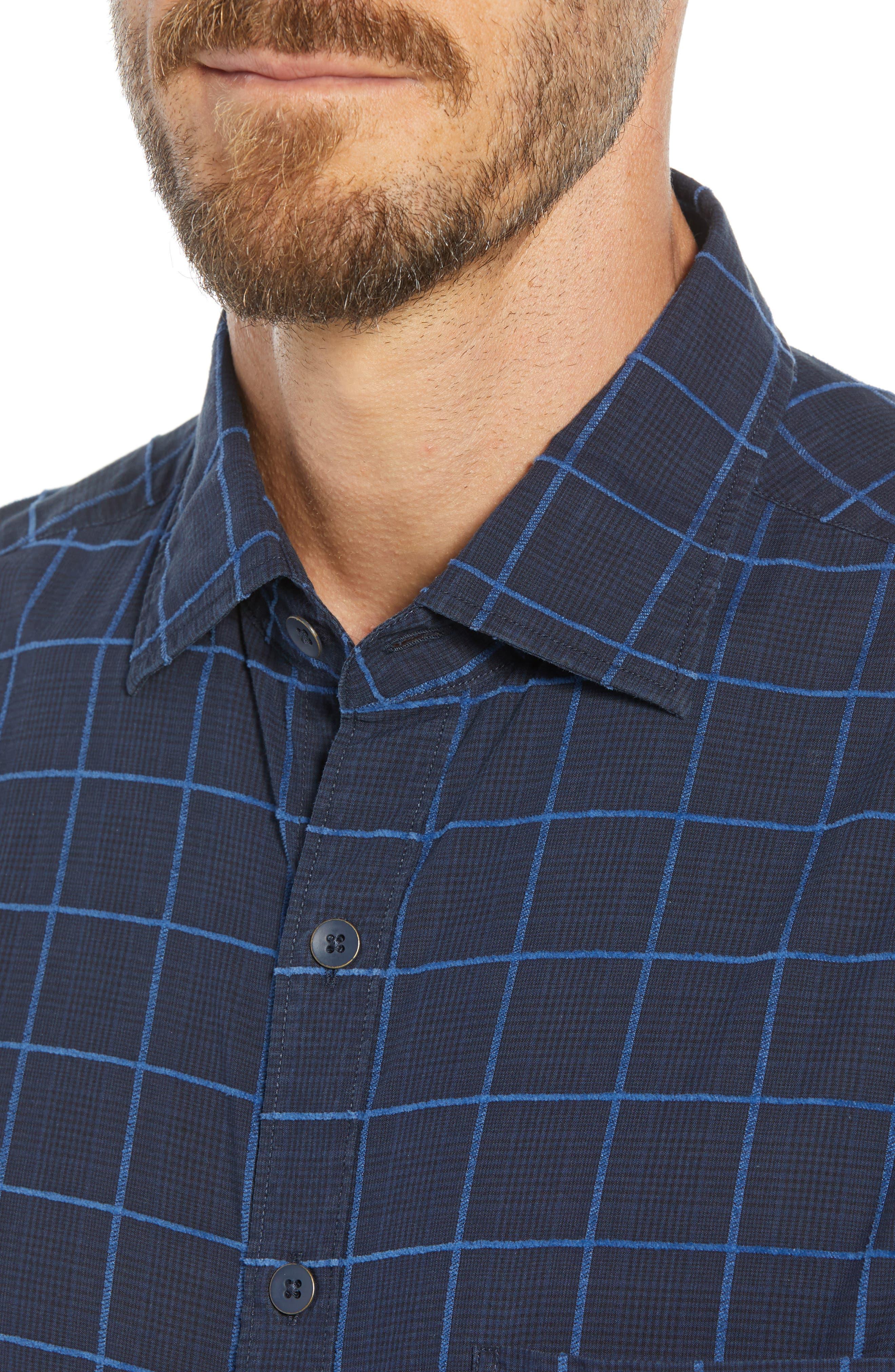 RODD & GUNN, Hindley Creek Regular Fit Sport Shirt, Alternate thumbnail 2, color, NAVY