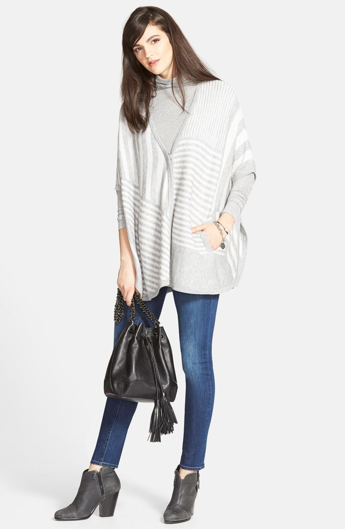 CHELSEA28, Layering Turtleneck, Alternate thumbnail 10, color, GREY HEATHER