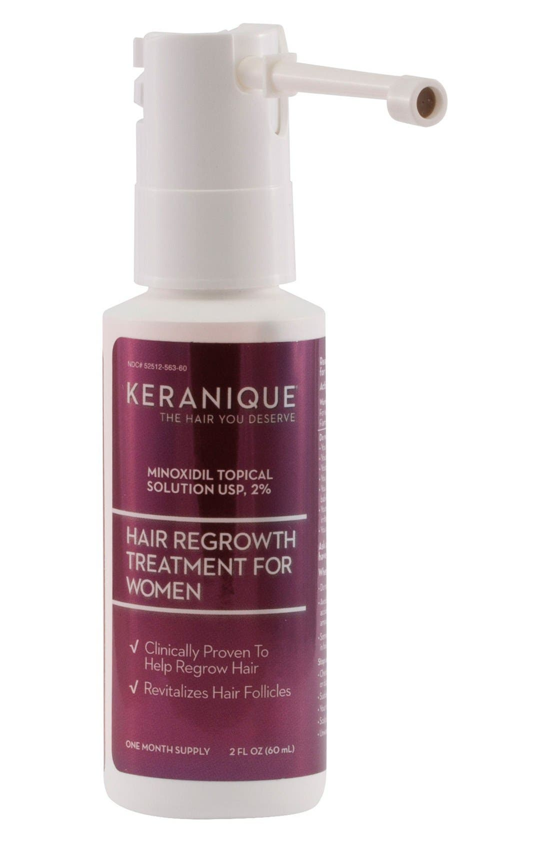 KERANIQUE, Hair Regrowth Treatment Spray for Women, Main thumbnail 1, color, NO COLOR