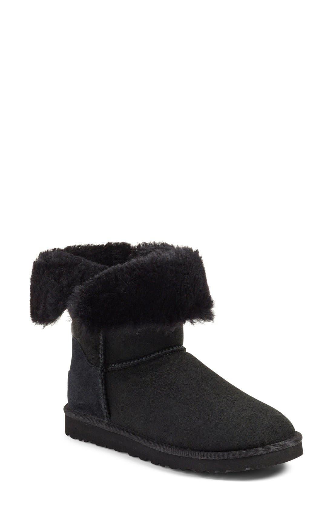 UGG<SUP>®</SUP>, Nash Genuine Shearling Boot, Alternate thumbnail 5, color, 001