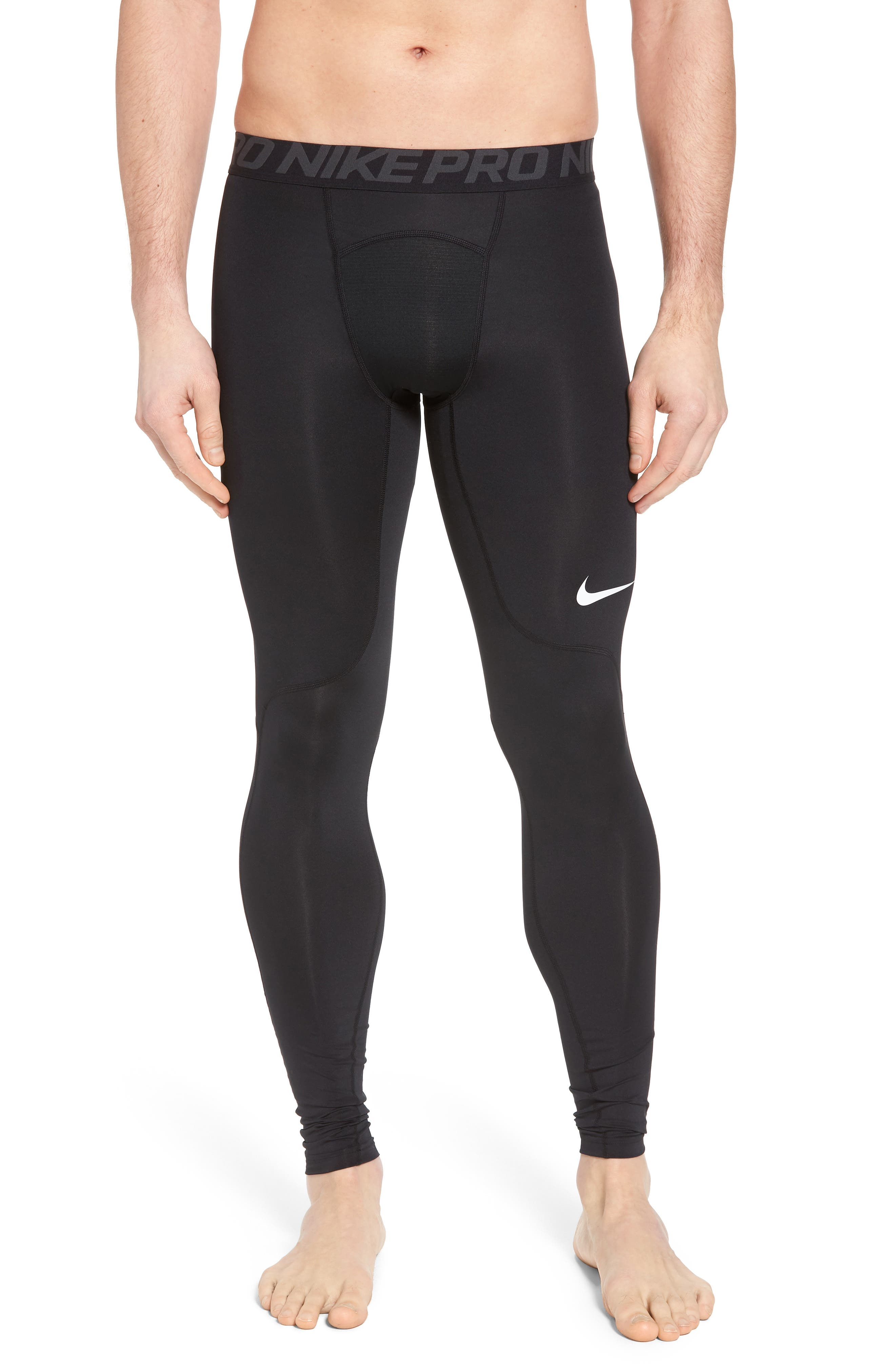 NIKE, Pro Training Tights, Main thumbnail 1, color, BLACK/ANTHRACITE/WHITE