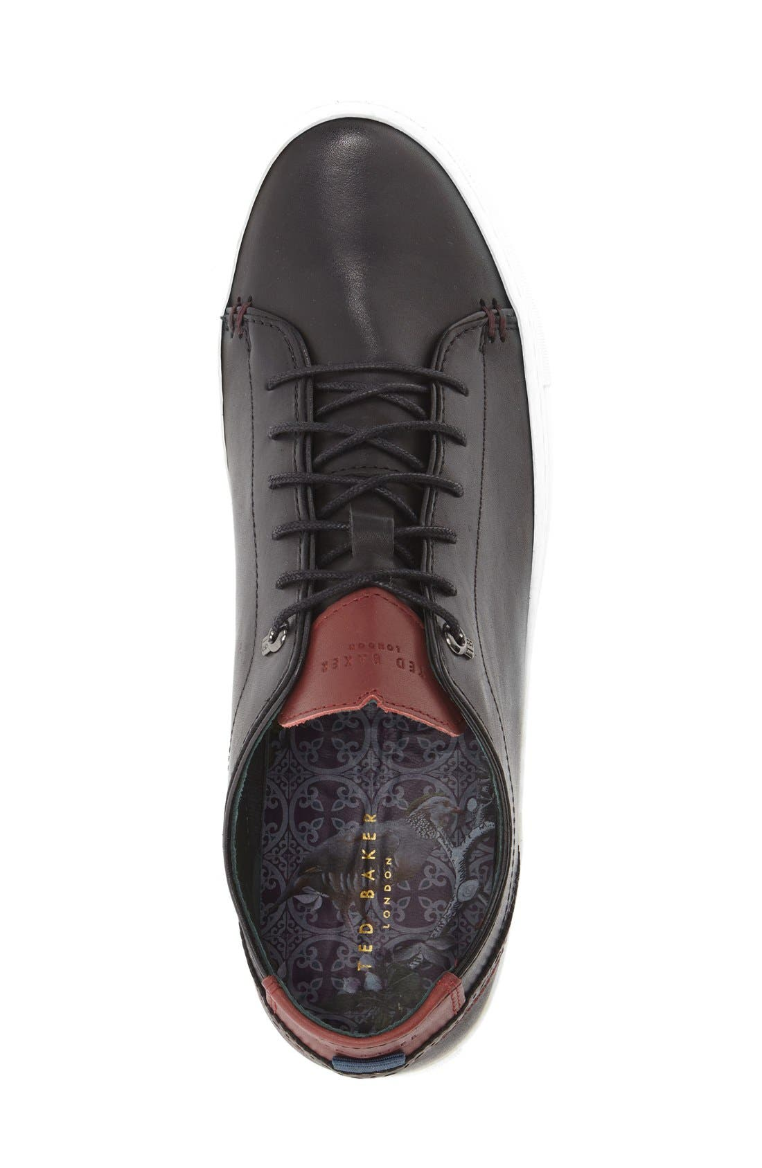 TED BAKER LONDON, 'Kiing Classic' Sneaker, Alternate thumbnail 6, color, 001