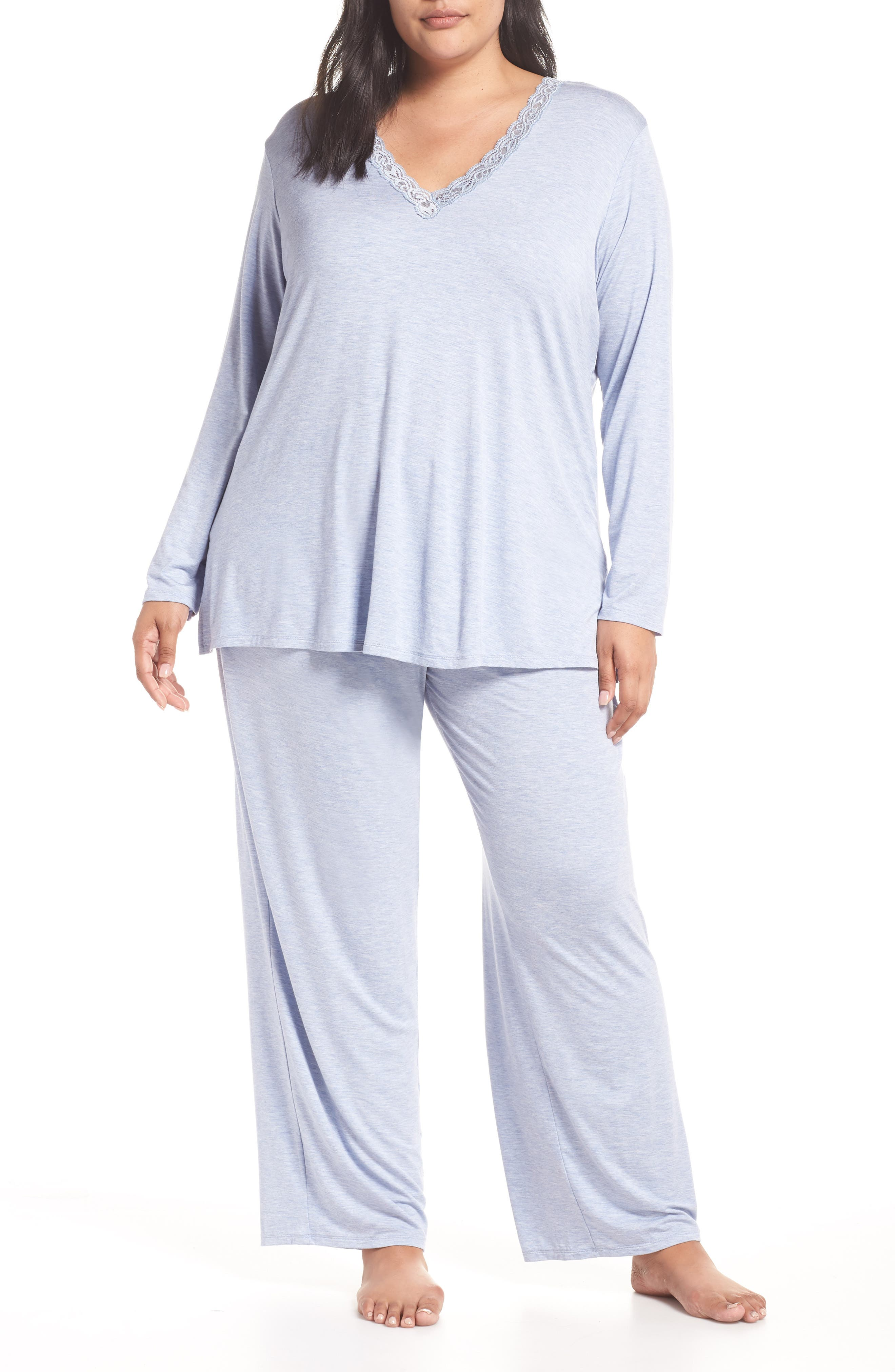 NATORI, Feathers Pajamas, Main thumbnail 1, color, 470