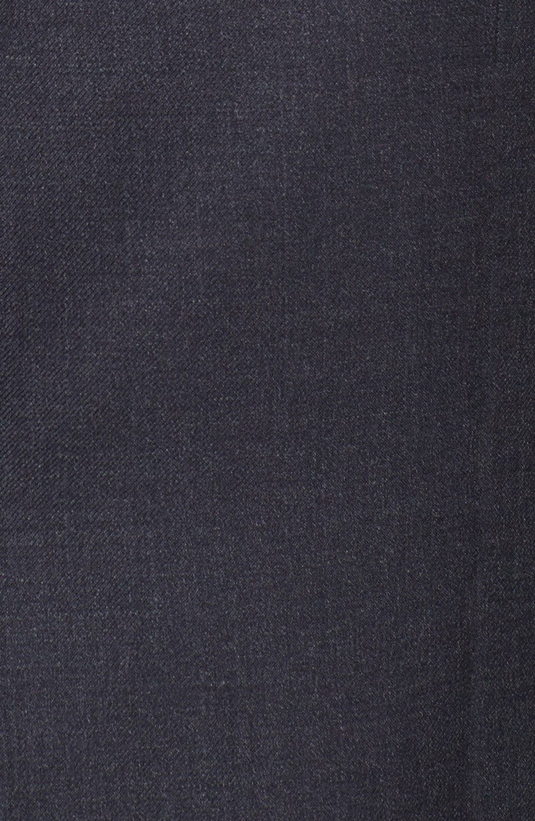 HART SCHAFFNER MARX, New York Classic Fit Solid Stretch Wool Suit, Alternate thumbnail 6, color, GREY