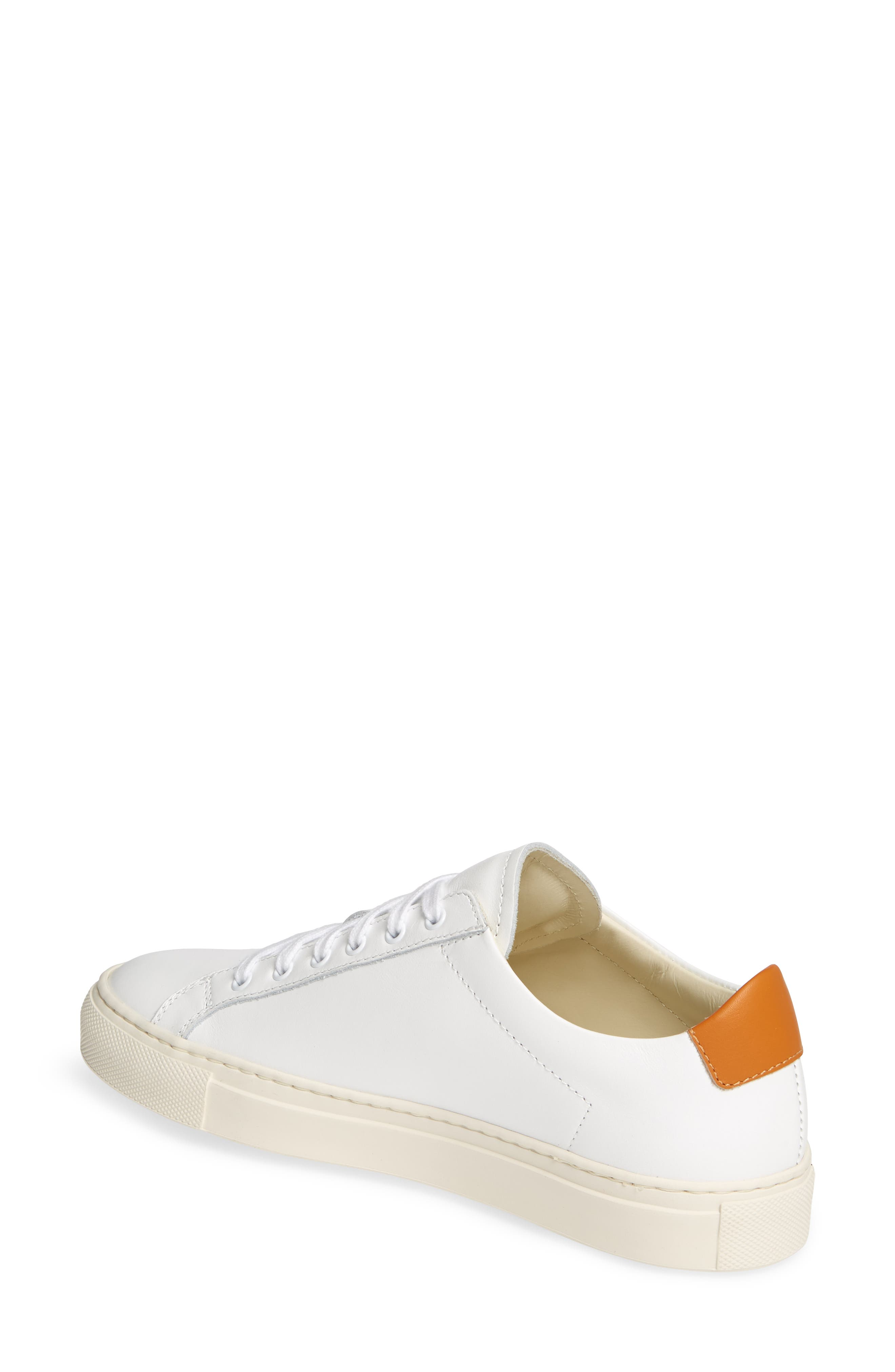 COMMON PROJECTS, Retro Low Top Sneaker, Alternate thumbnail 2, color, WHITE/ BROWN