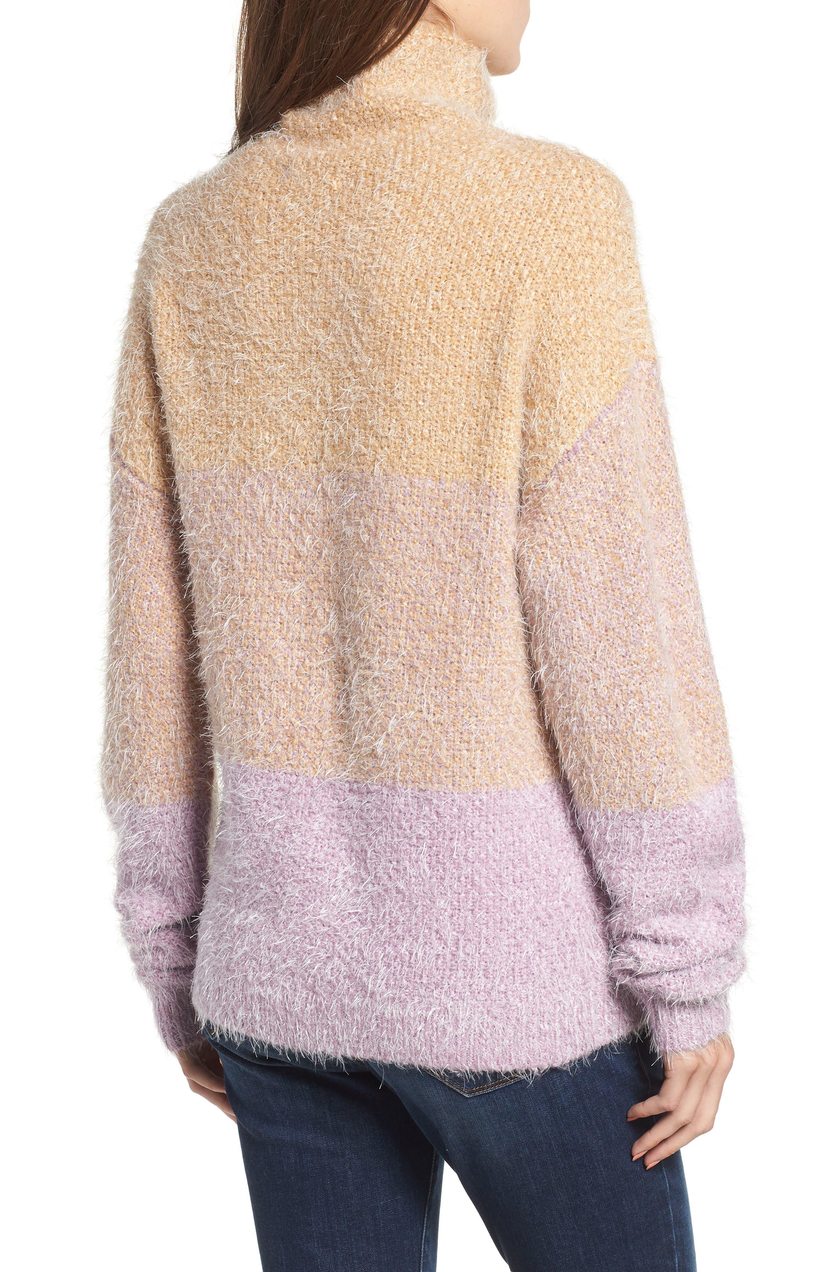BP., Ombré Eyelash Sweater, Alternate thumbnail 2, color, 680