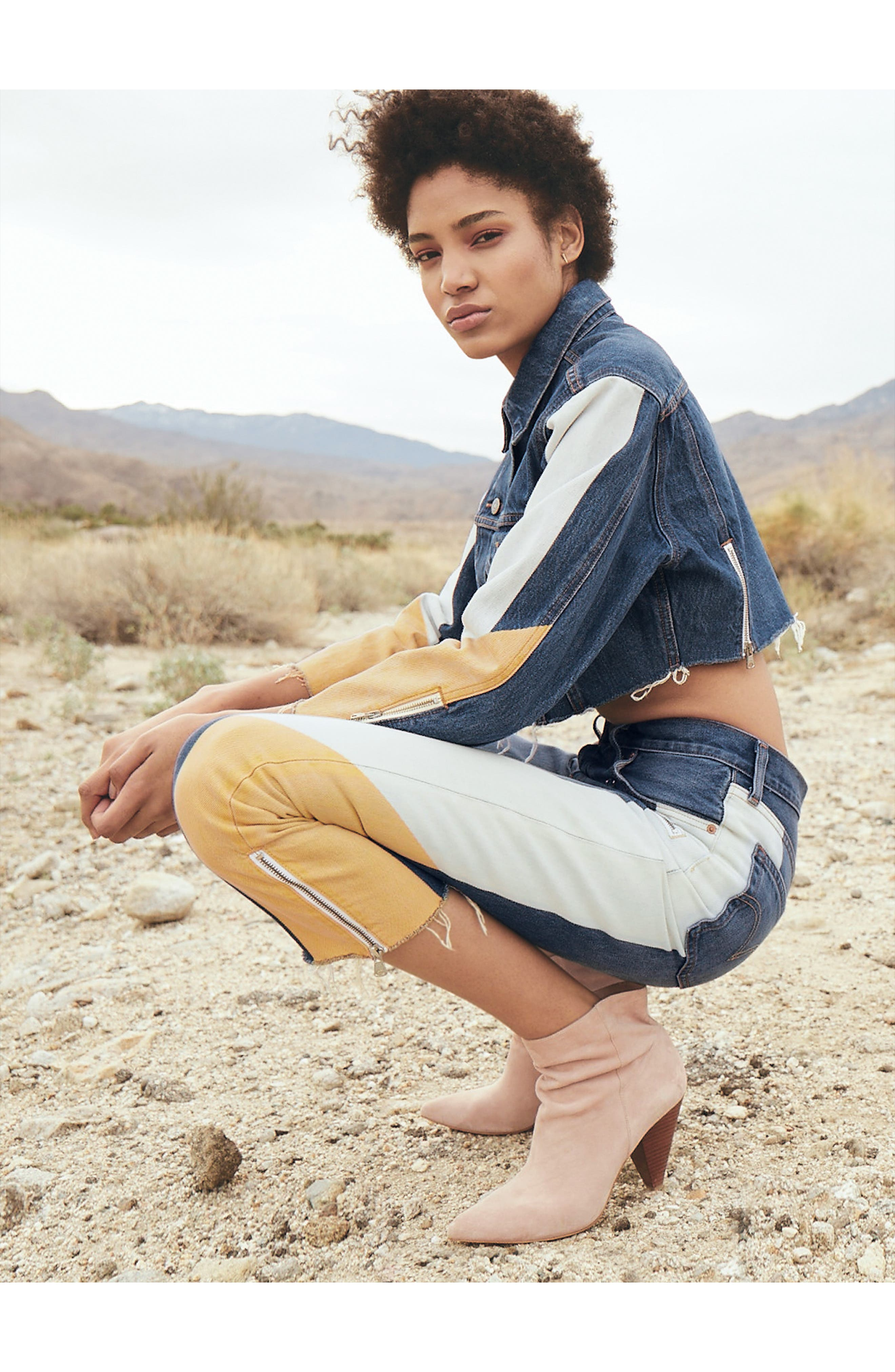LEVI'S<SUP>®</SUP>, 501<sup>®</sup> Moto Crop Jeans, Alternate thumbnail 6, color, SHOW TEETH