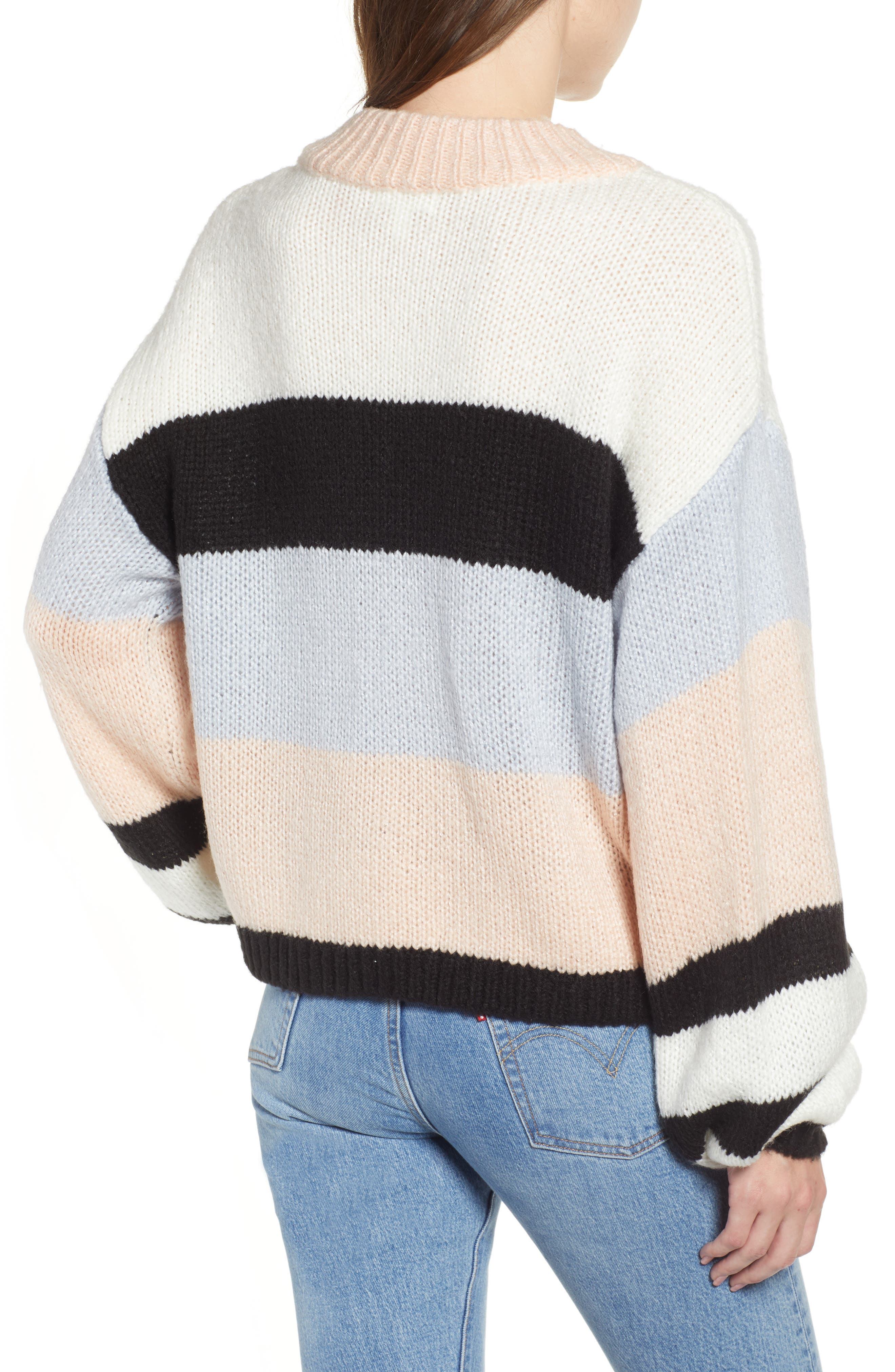 BP., Stripe Sweater, Alternate thumbnail 2, color, 660