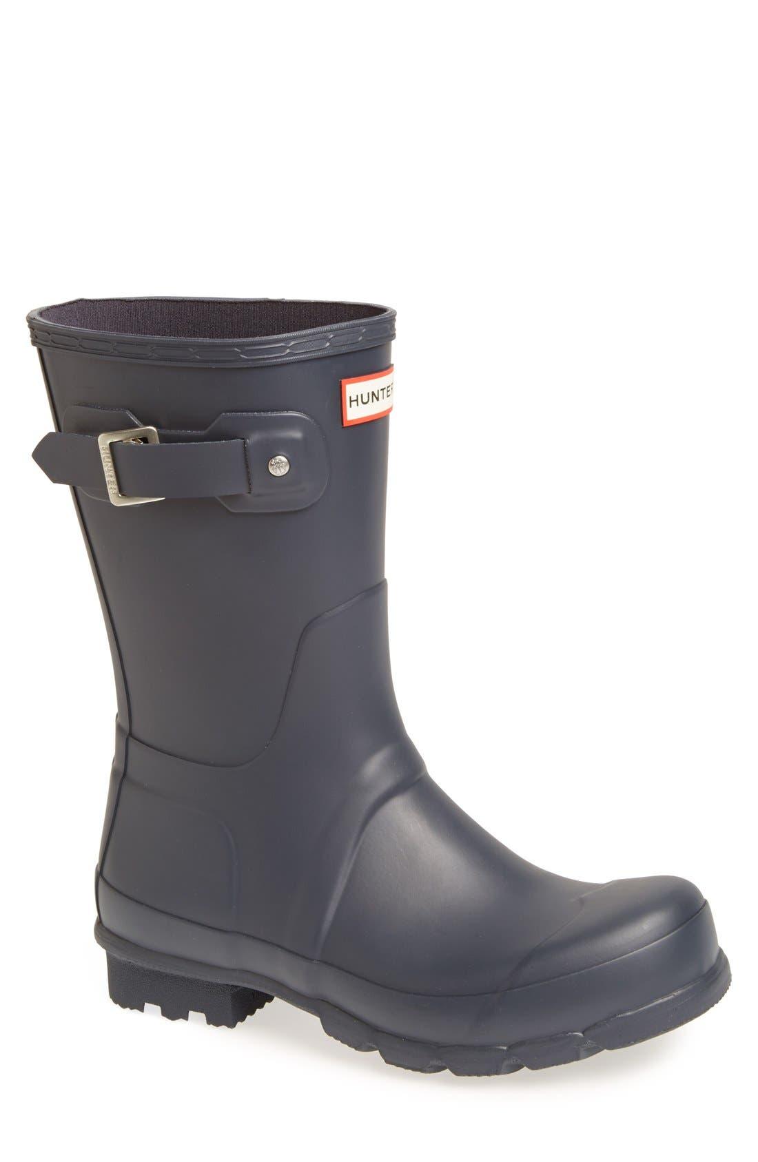 Hunter Original Short Waterproof Rain Boot, Blue