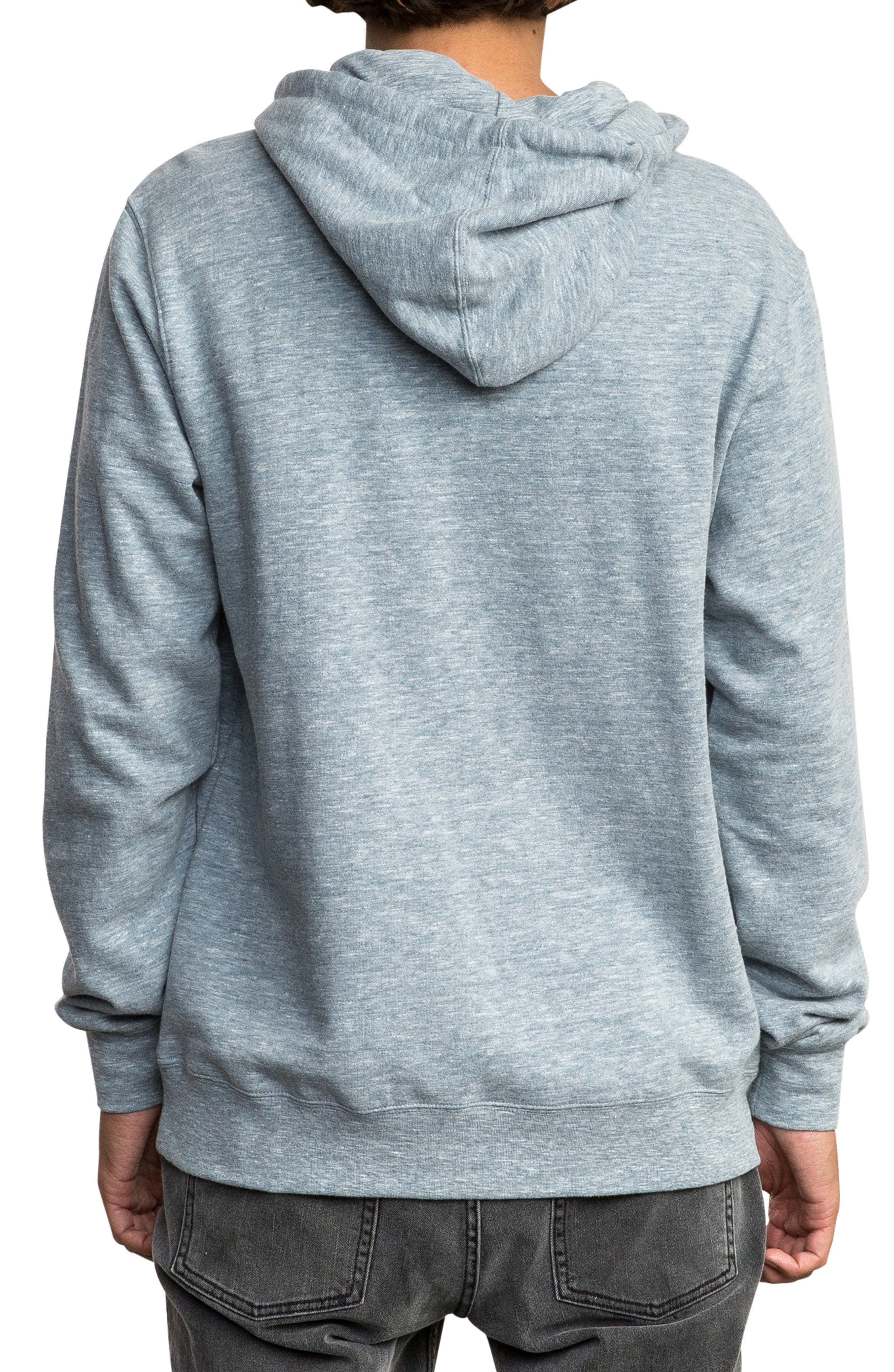 RVCA, Big Logo Hoodie, Alternate thumbnail 2, color, 072