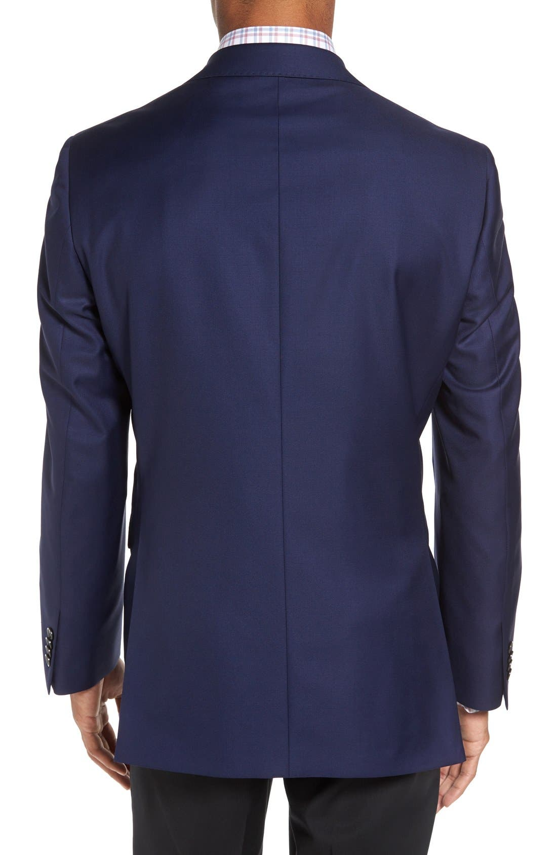 DAVID DONAHUE, 'Connor' Classic Fit Solid Wool Sport Coat, Alternate thumbnail 2, color, NAVY