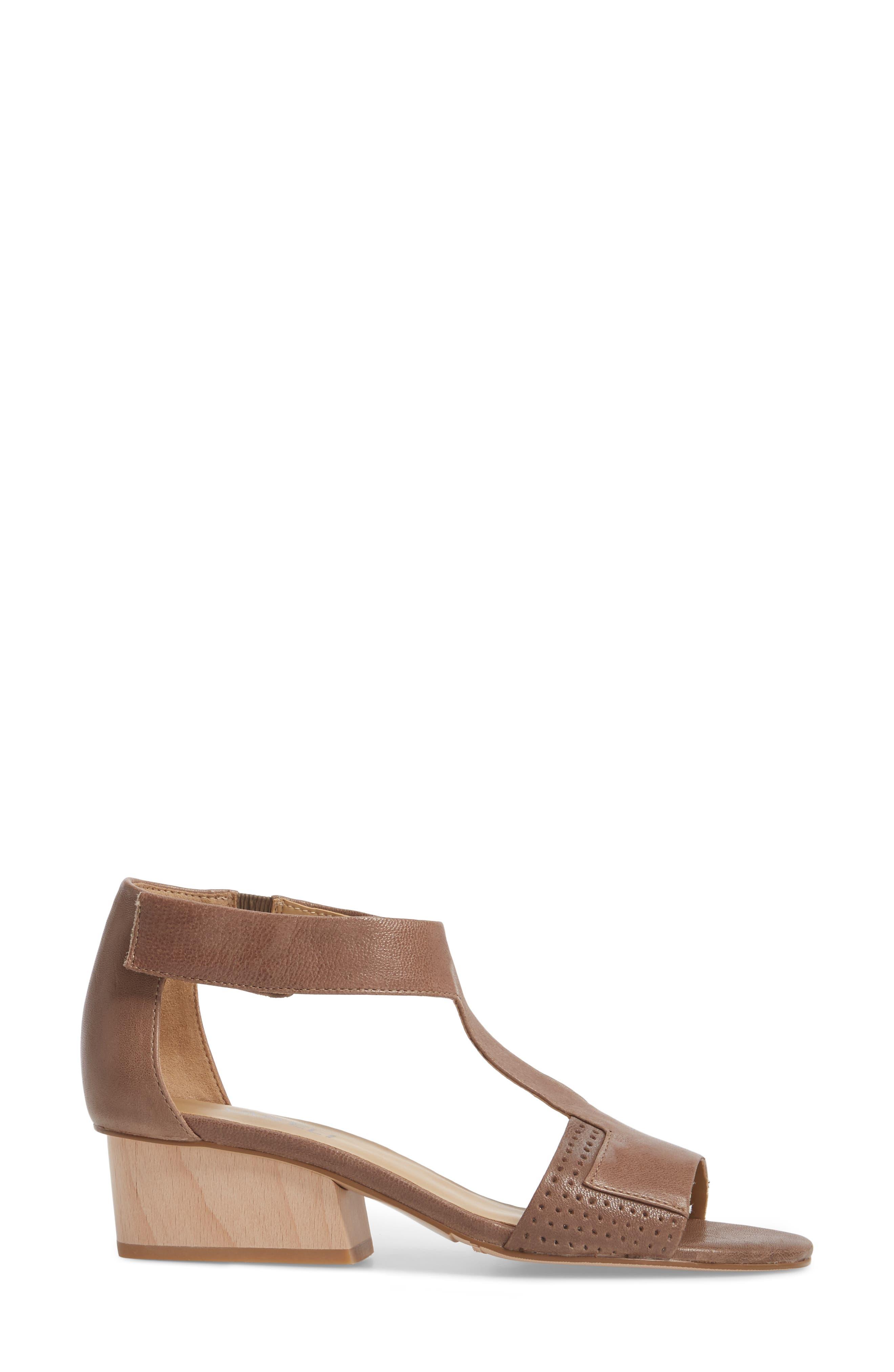 VANELI, Calyx Block Heel Sandal, Alternate thumbnail 3, color, STONE LEATHER