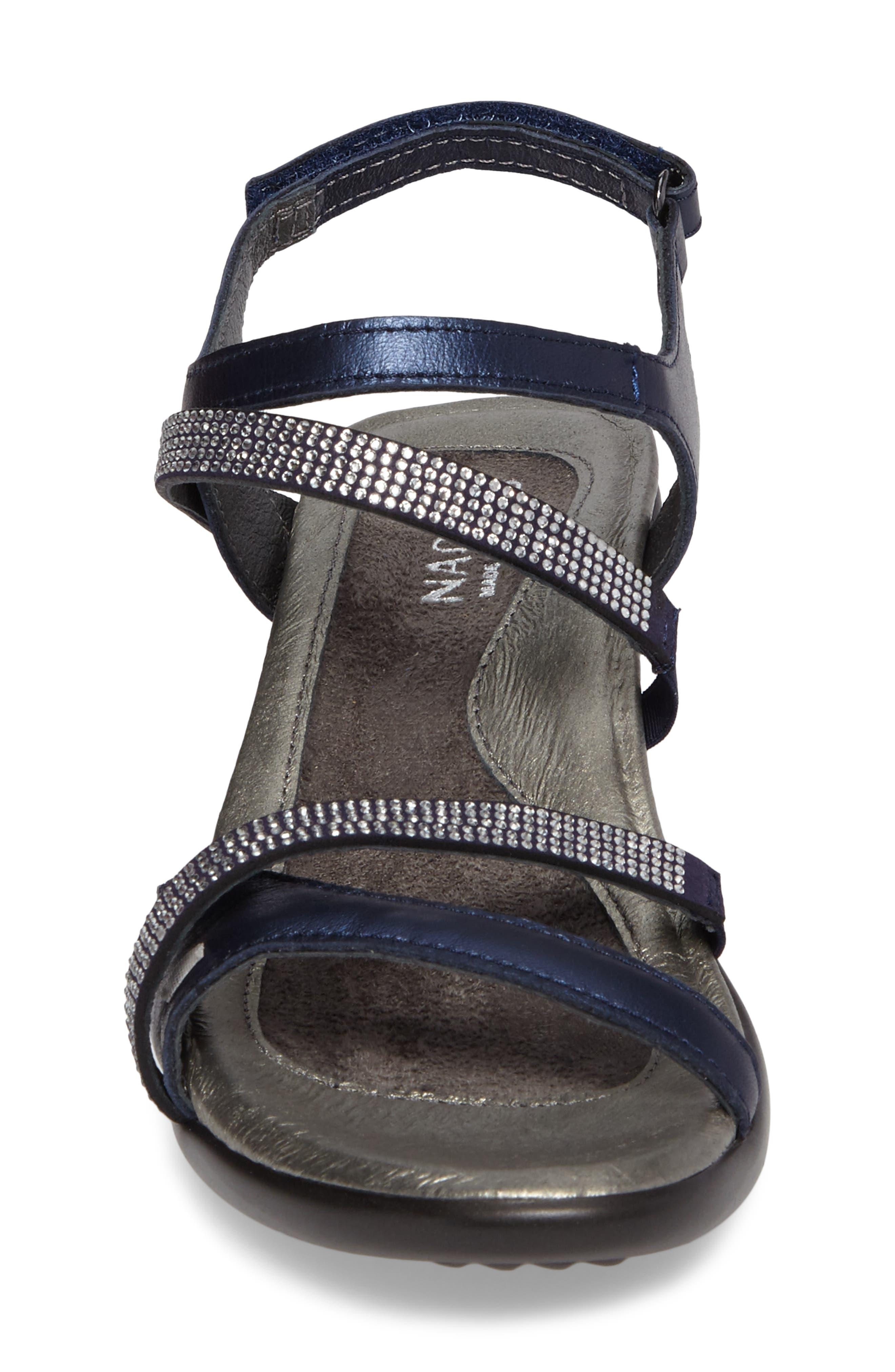 NAOT, Innovate Sandal, Alternate thumbnail 4, color, POLAR SEAL LEATHER
