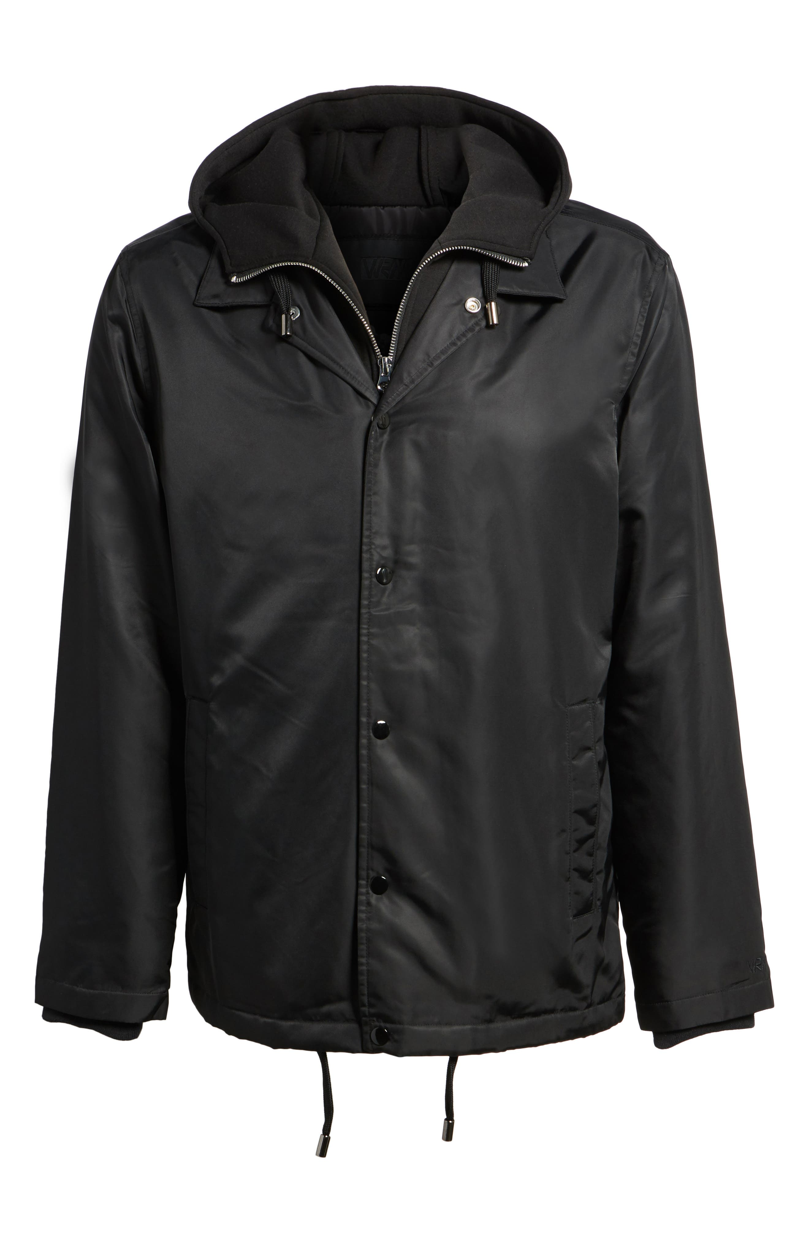THE VERY WARM, Yorkshire Hooded Coach's Jacket, Alternate thumbnail 5, color, 001